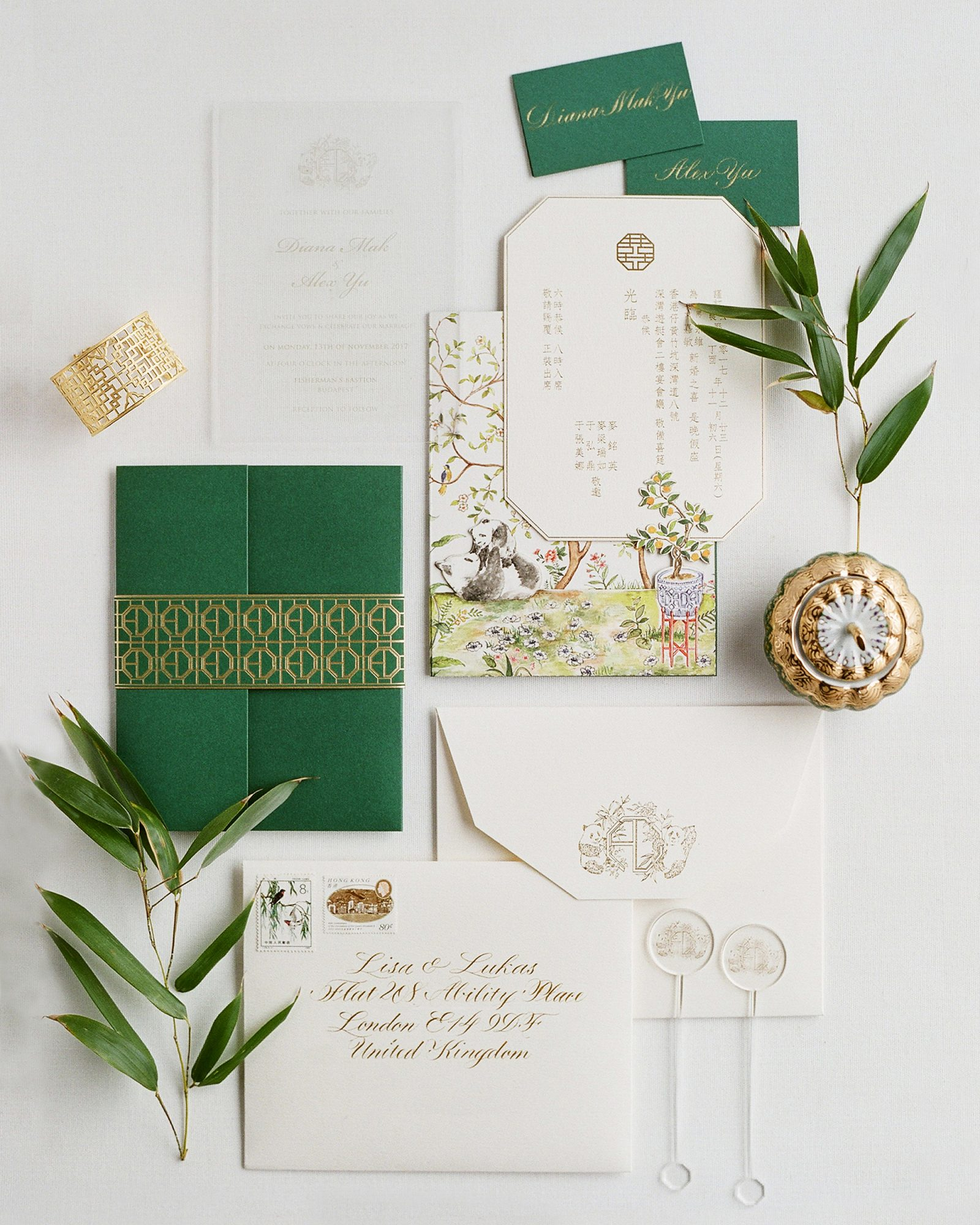 Chinoiserie-Style Stationery