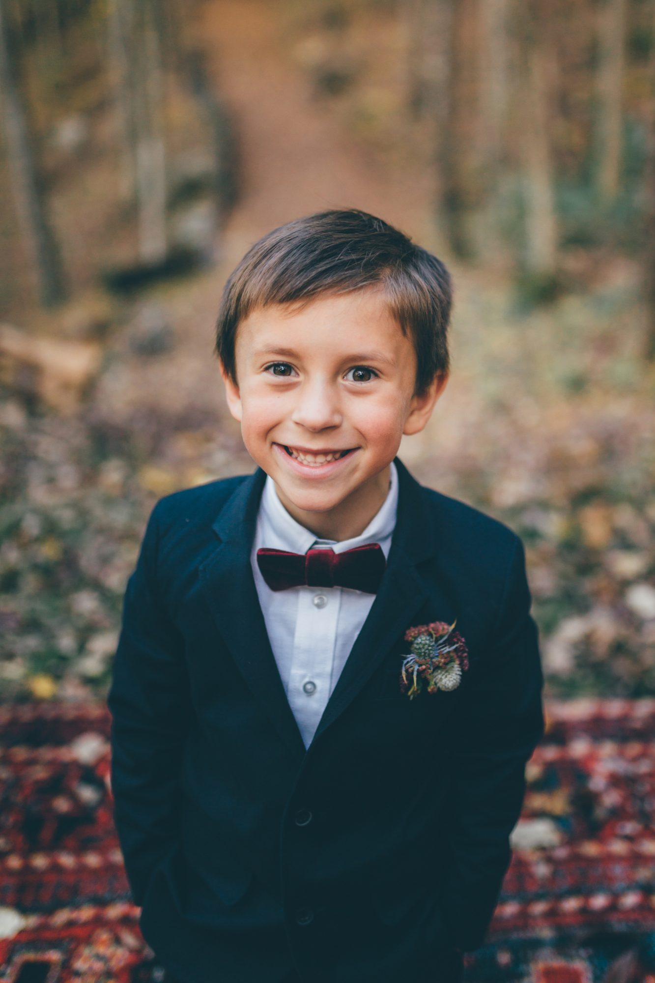 Fall Ring Bearer Boutonnière