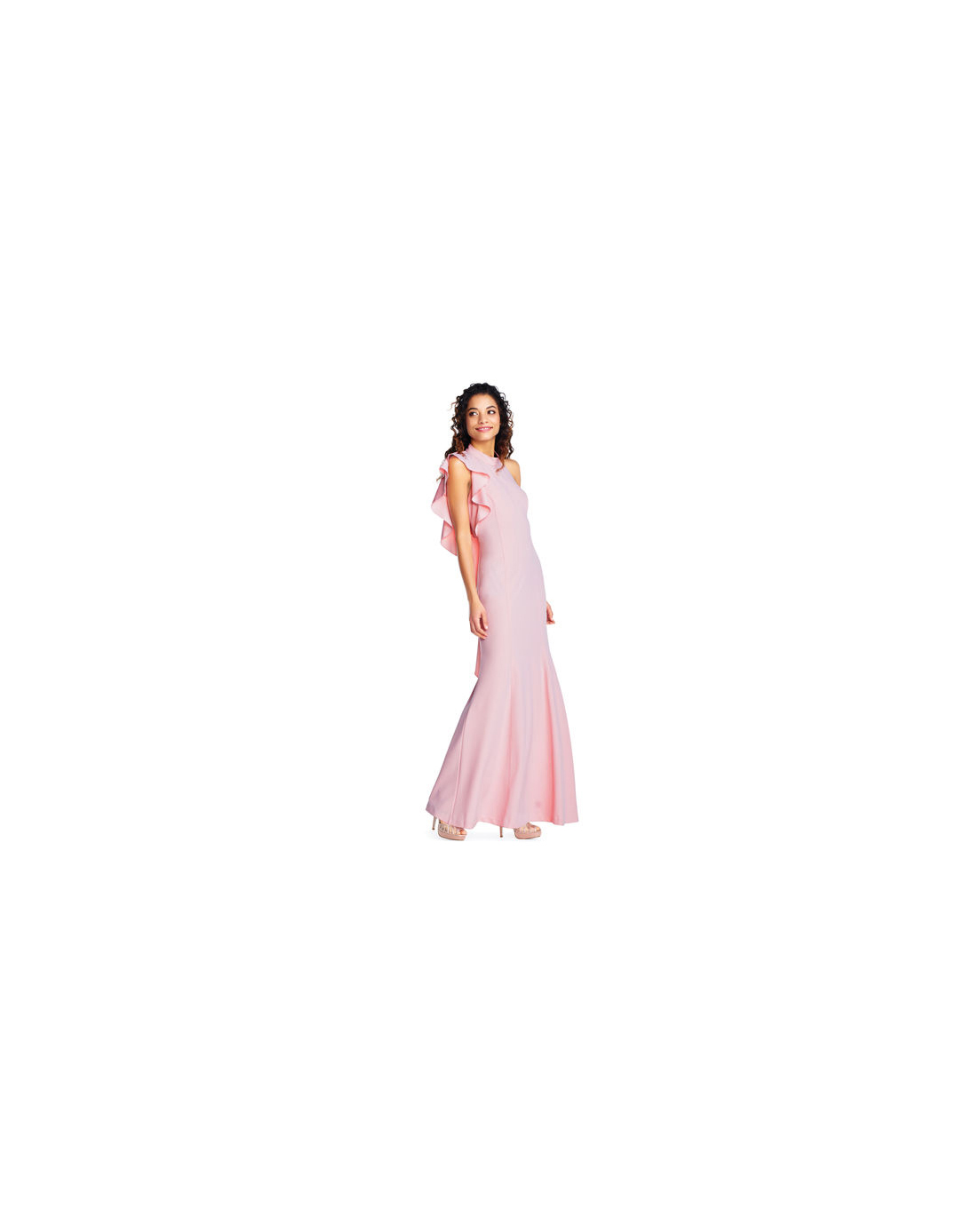 pink mob dresses adrianna papell ruffle
