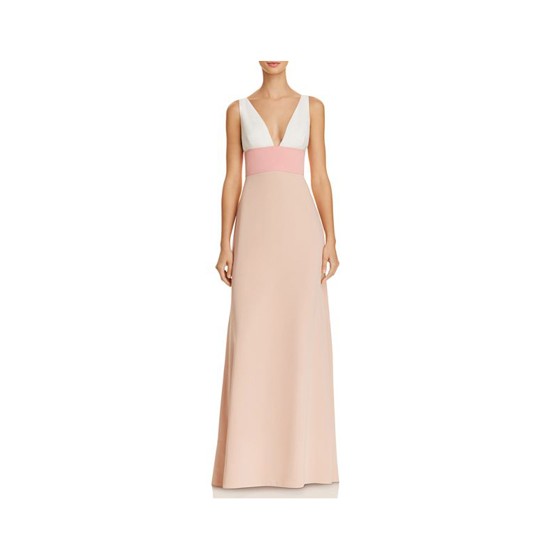 Pink Mother of the Bride Dress, Pink and White Colorblock Gown by Jill by Jill Stuart