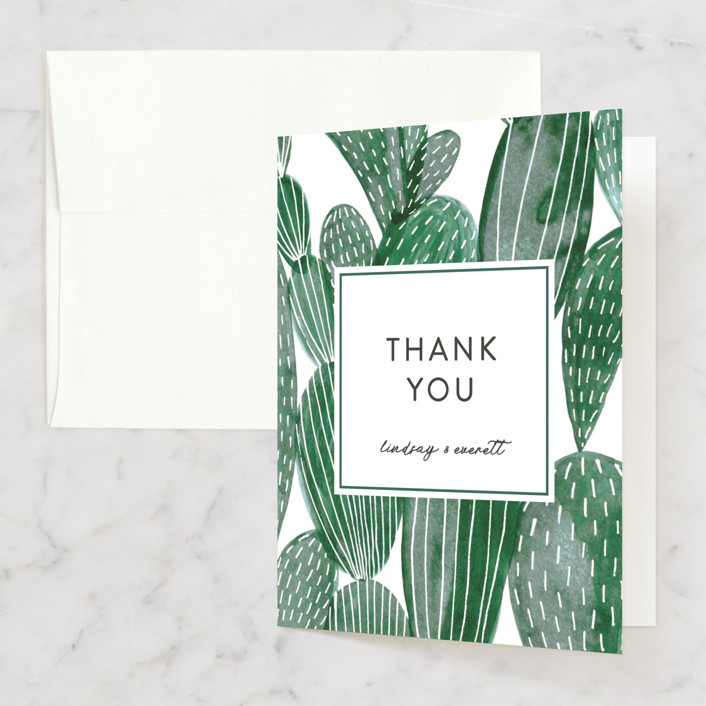 thank you notes minted painted cacti