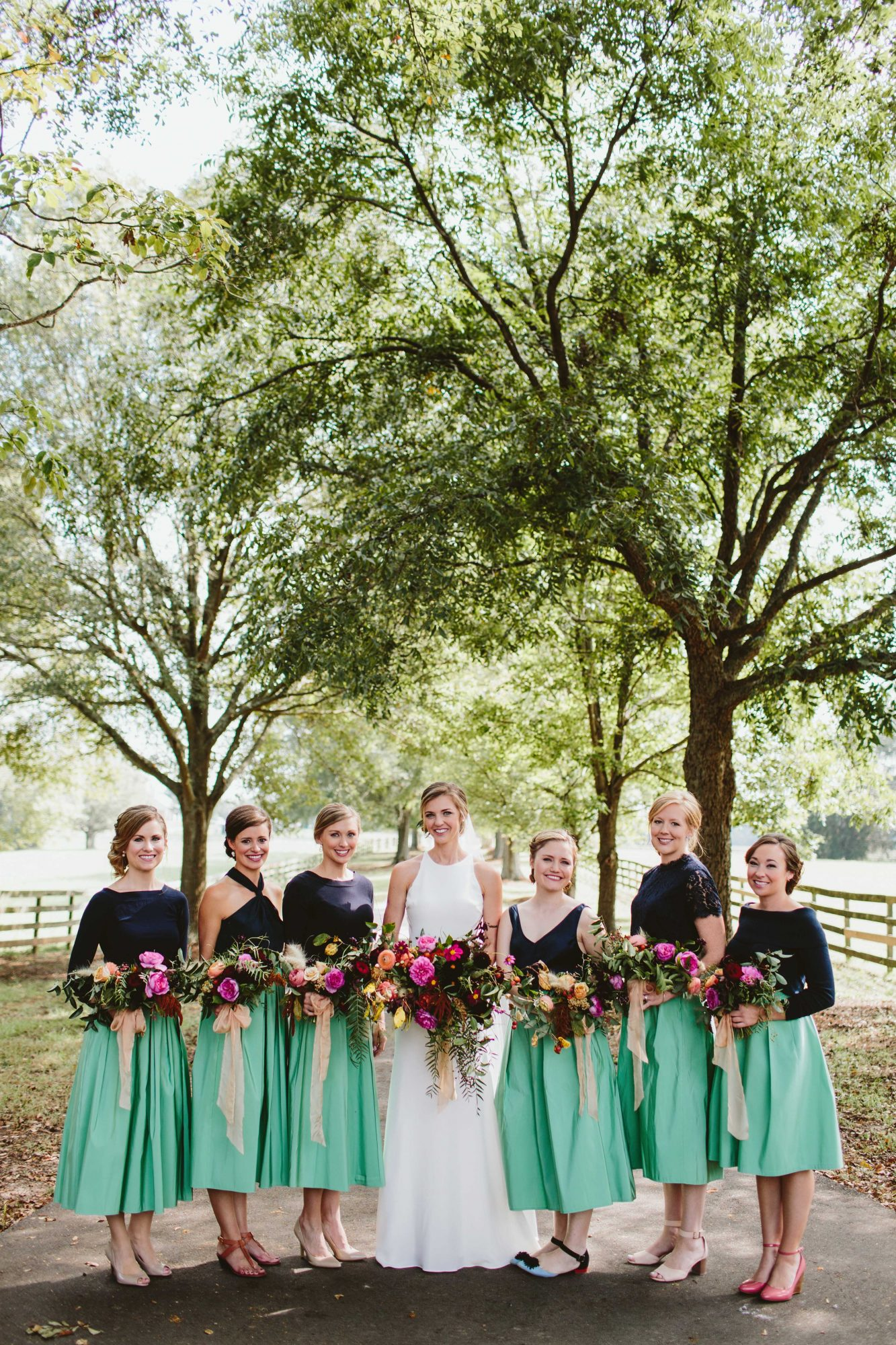 two piece bridesmaids angela zion green