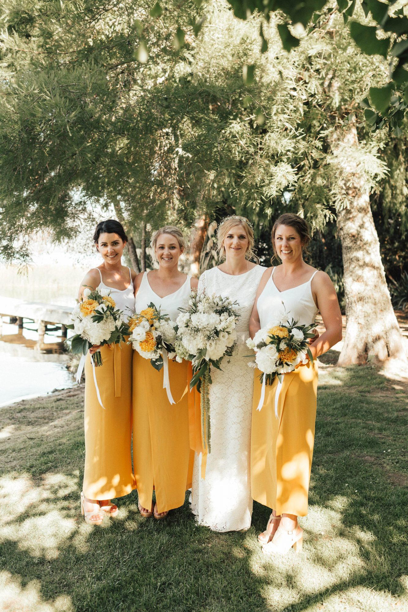 two piece bridesmaids bespoke photography mustard