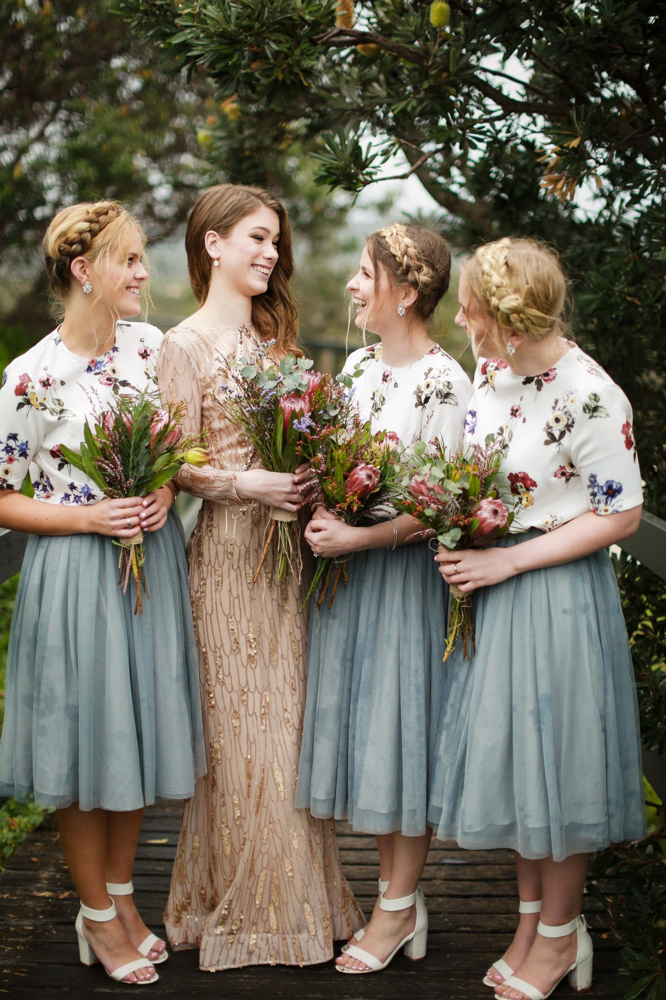two piece bridesmaids deezigner images floral