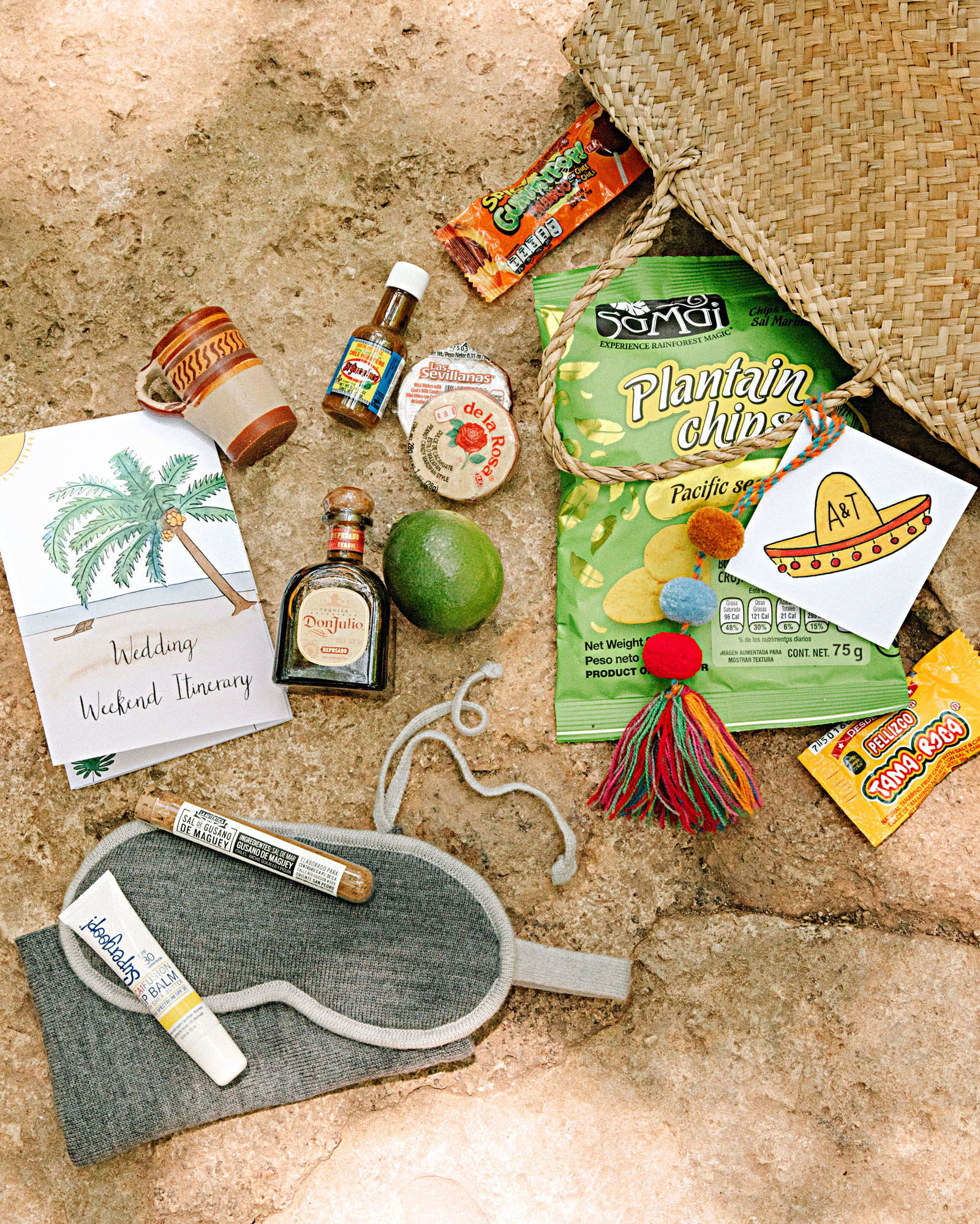 ariel trevor wedding tulum mexico welcome bag