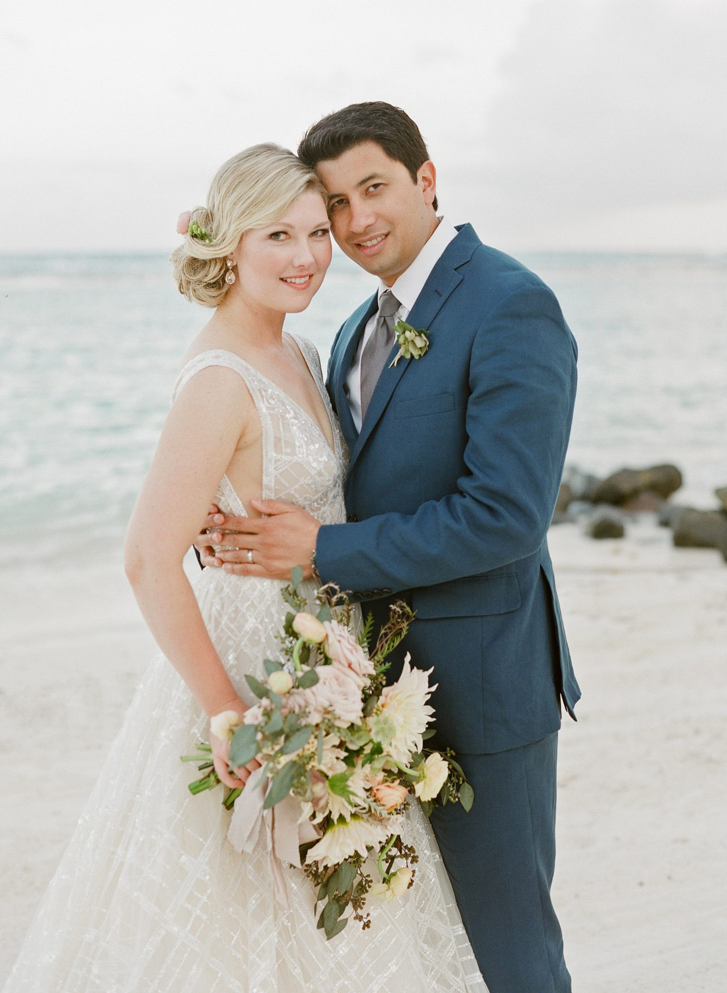 elizabeth sohale wedding dominican republic couple beach
