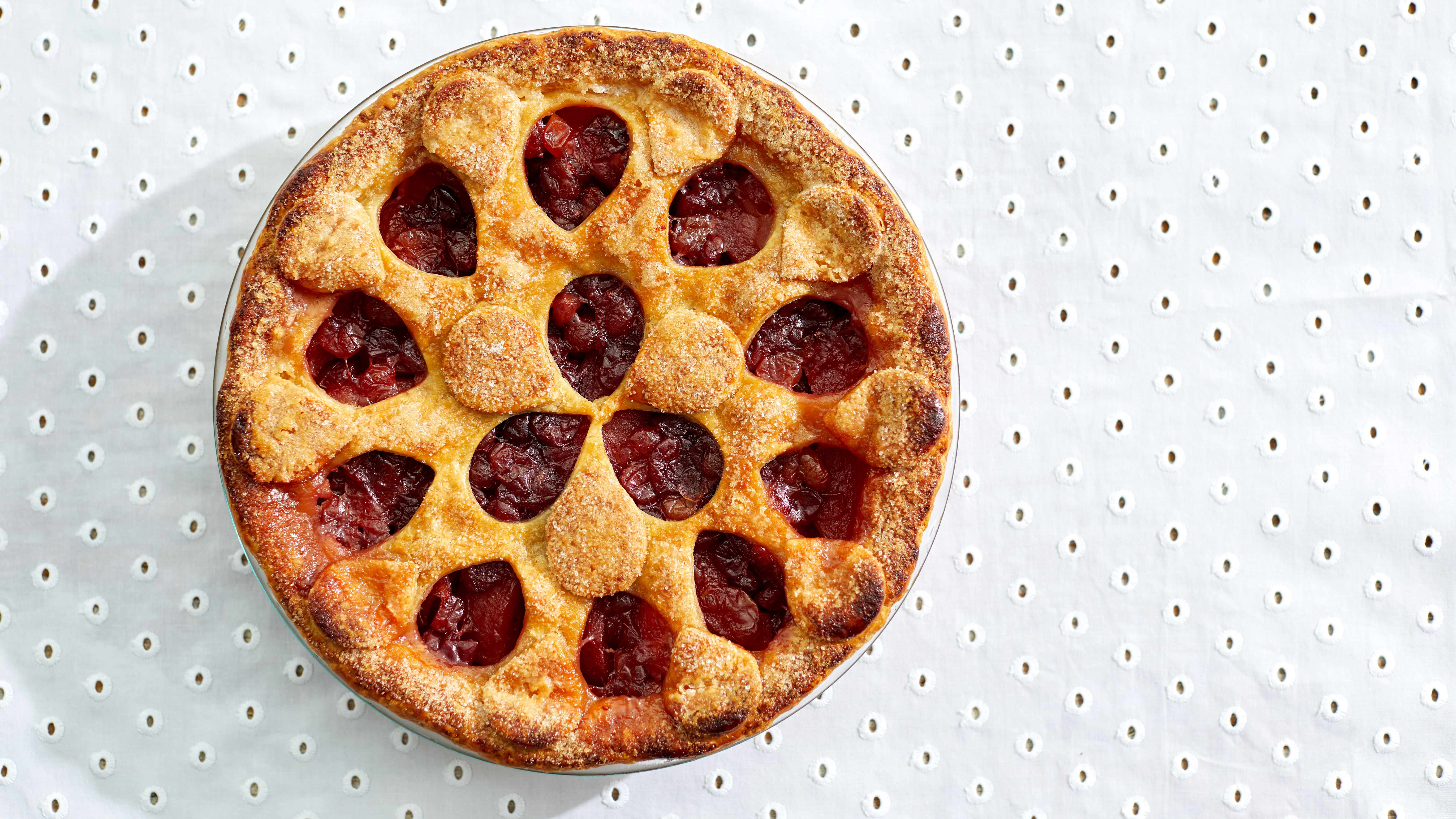 poached pear cranberry pie martha bakes