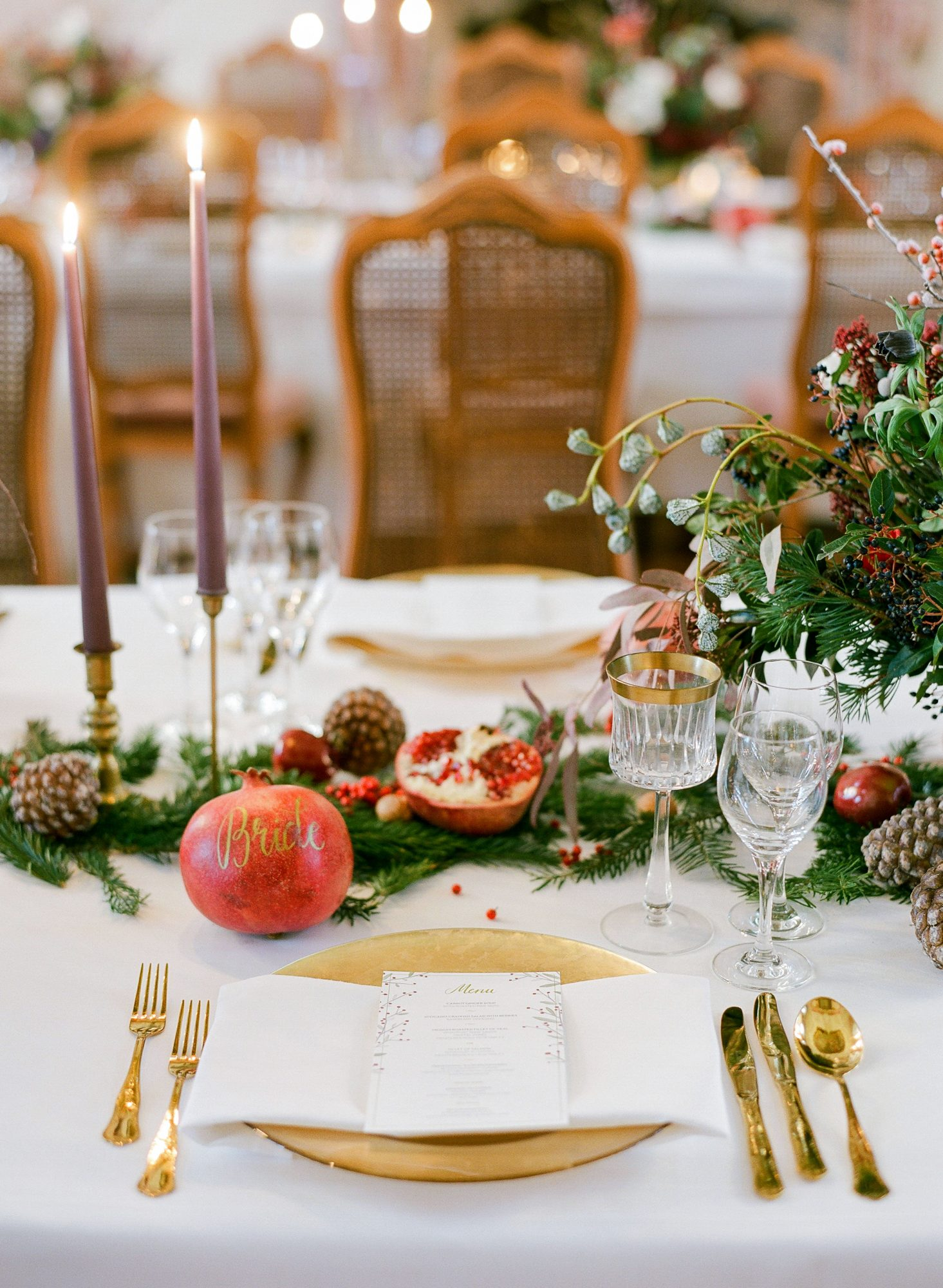 winter wedding centerpieces greg finck