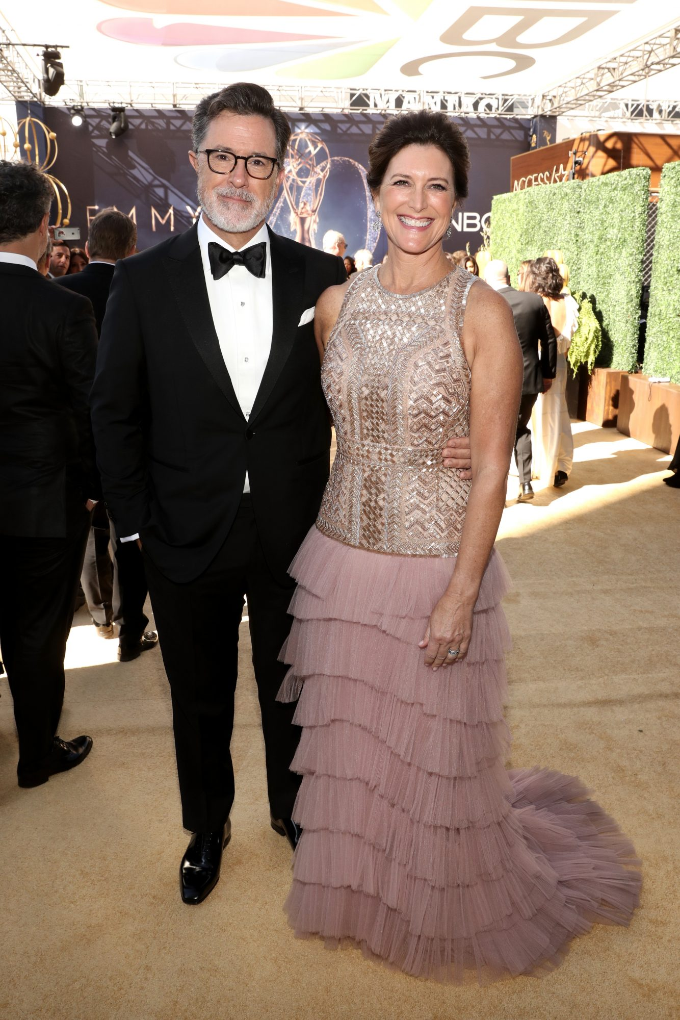stephen colbert and evelyn mcgee-colbert emmys 2018