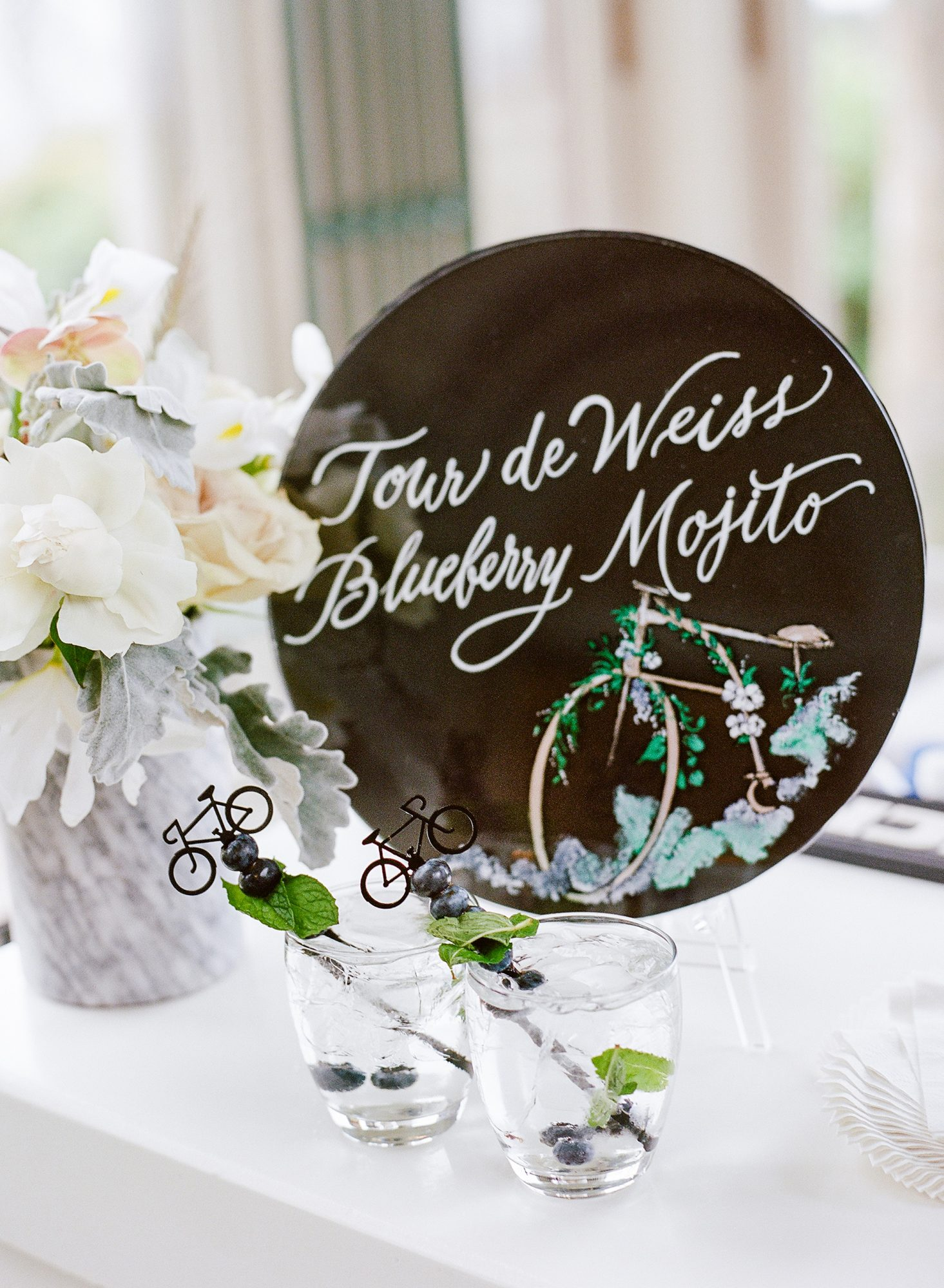 michelle robert wedding bicycle cocktail