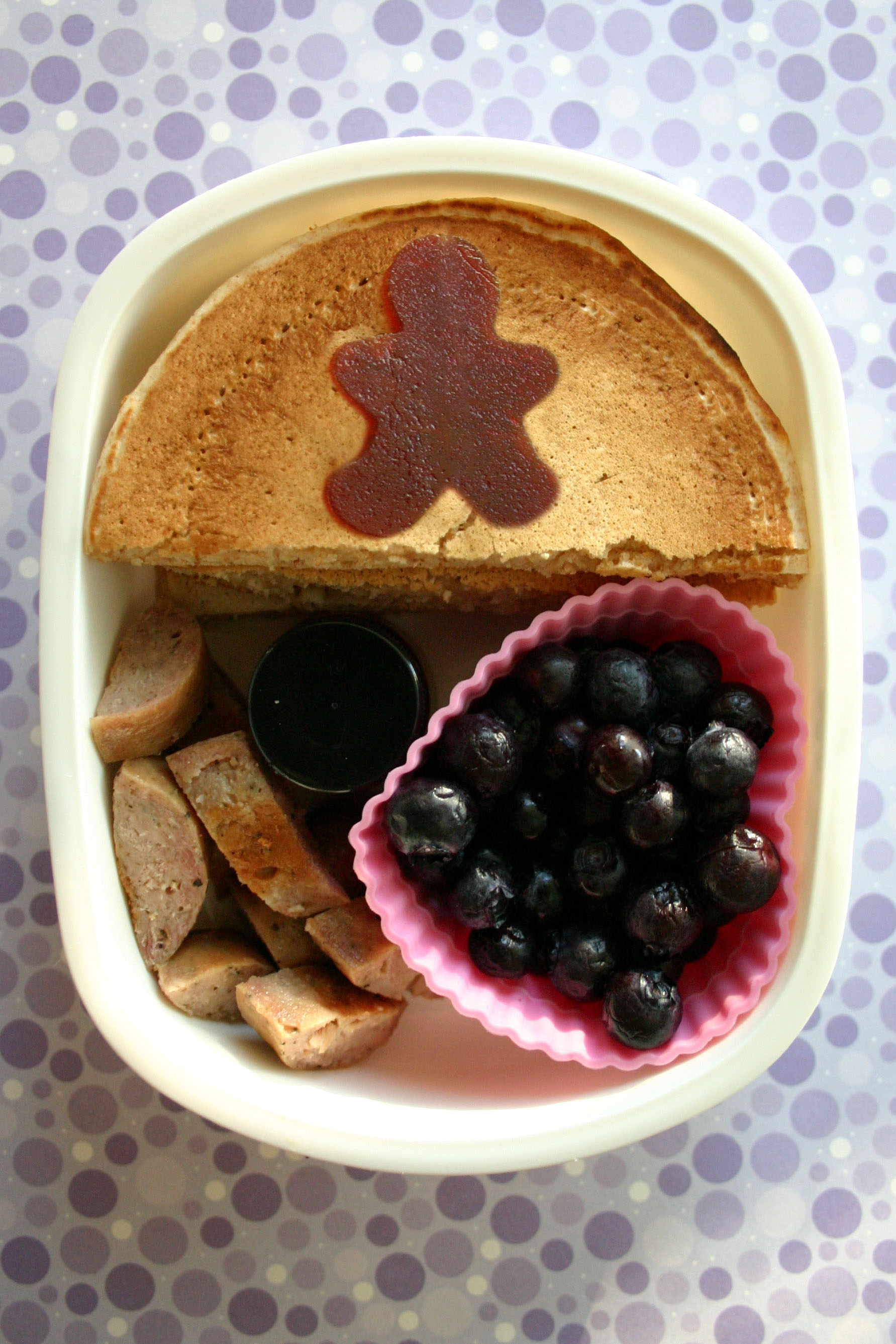 bento box breakfast pancakes berries