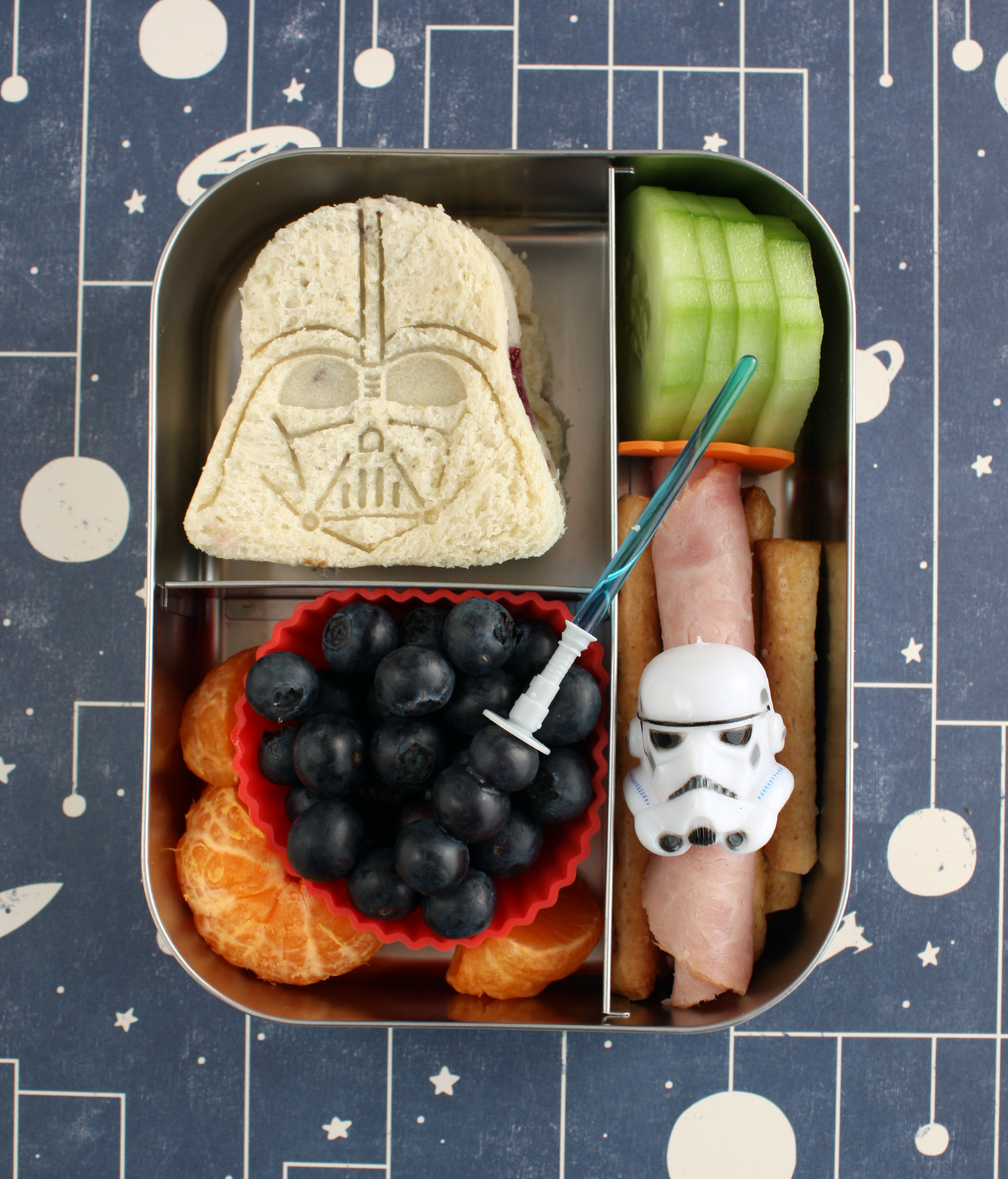 bento box star wars darth vader sandwich