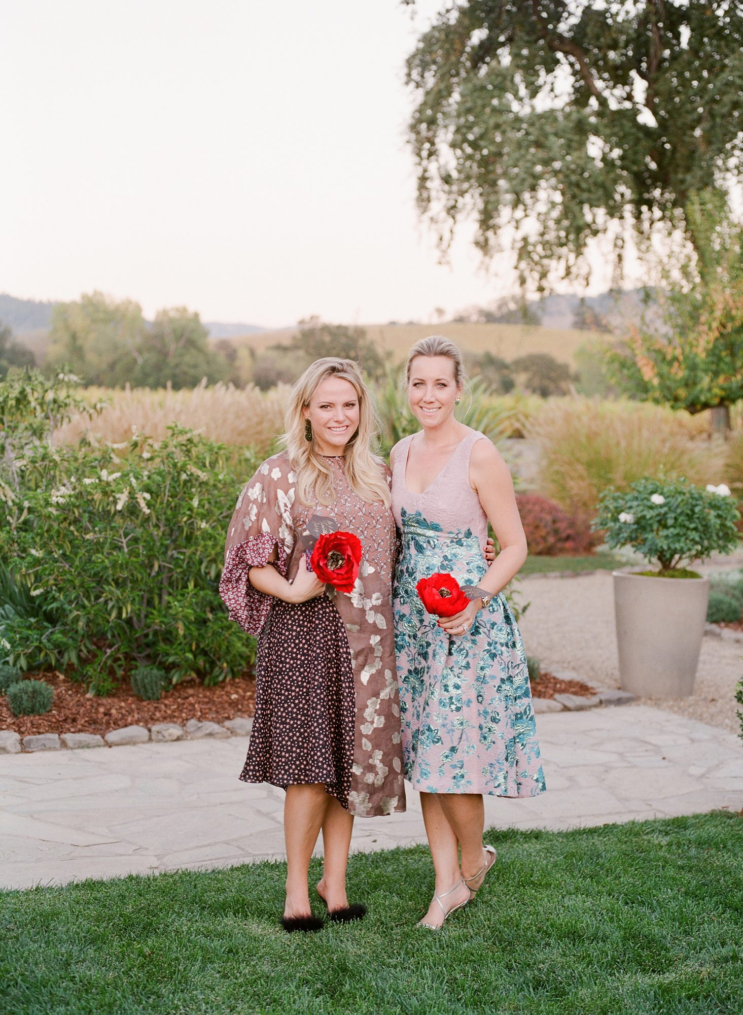 jenna alok wedding wine country california guests flowers