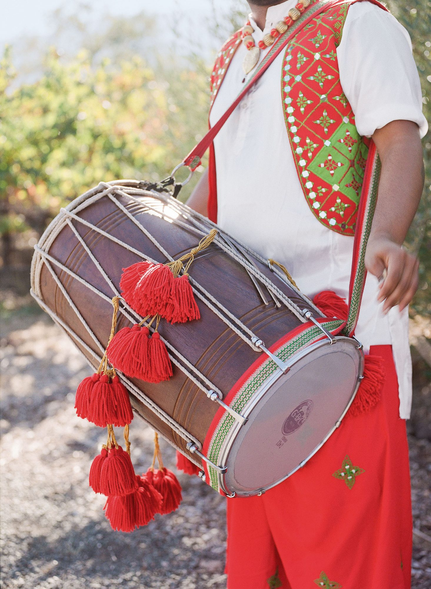 jenna alok wedding wine country california musician drum