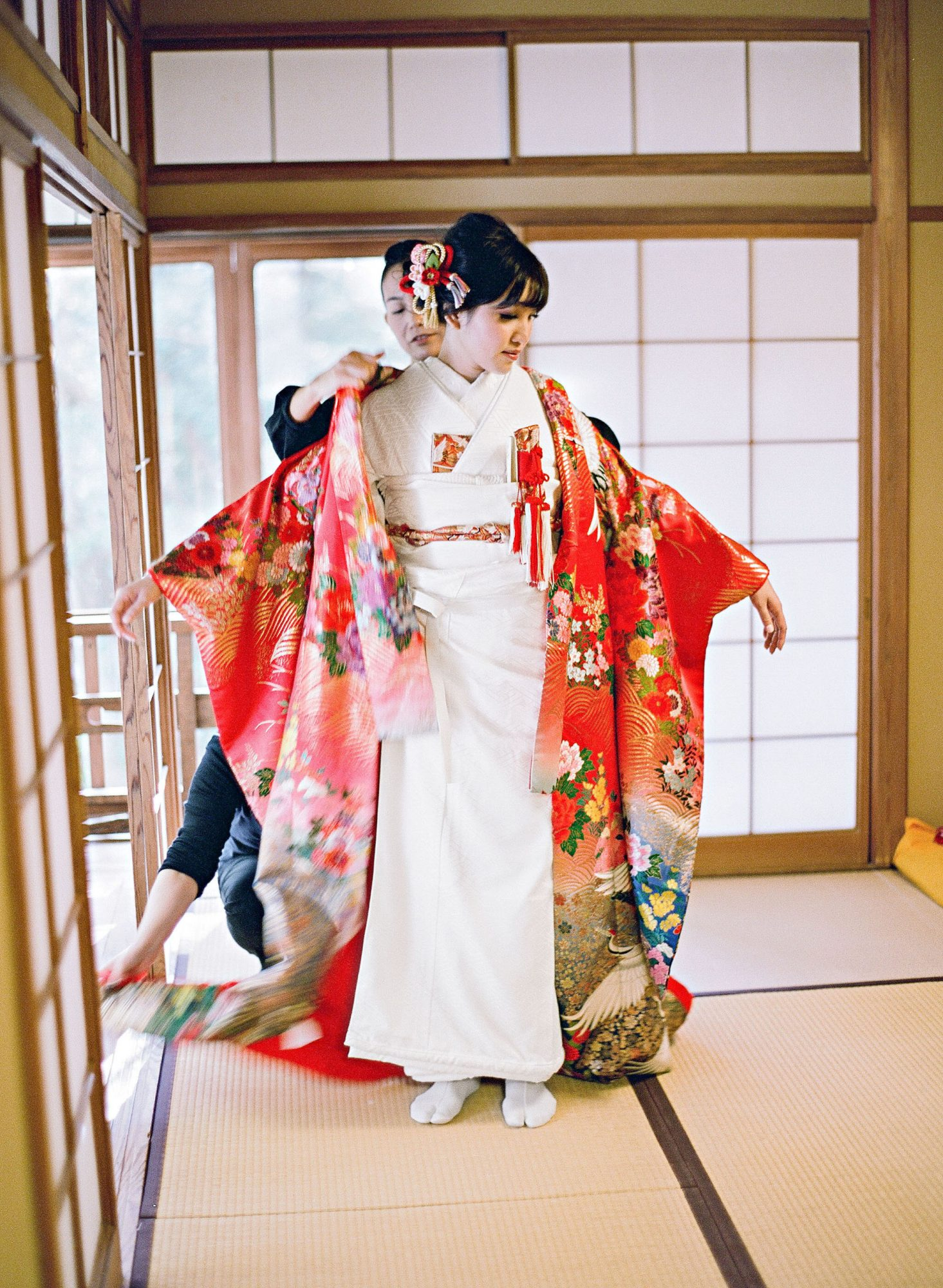 addie richard wedding japan bride kimono