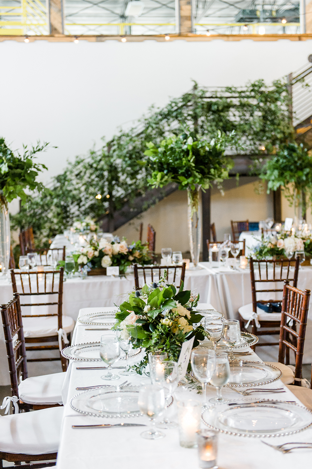 brewery wedding venues table setting
