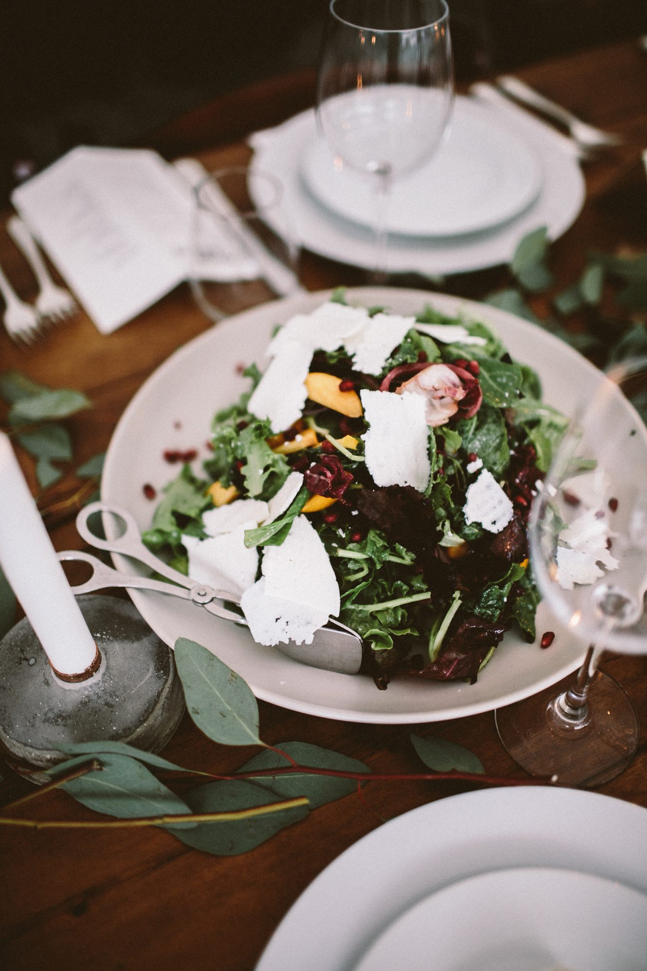 angie reed wedding salad family style