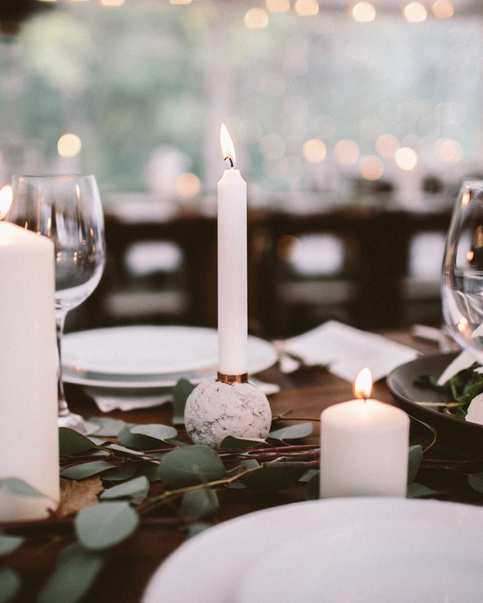 angie reed wedding tables candles