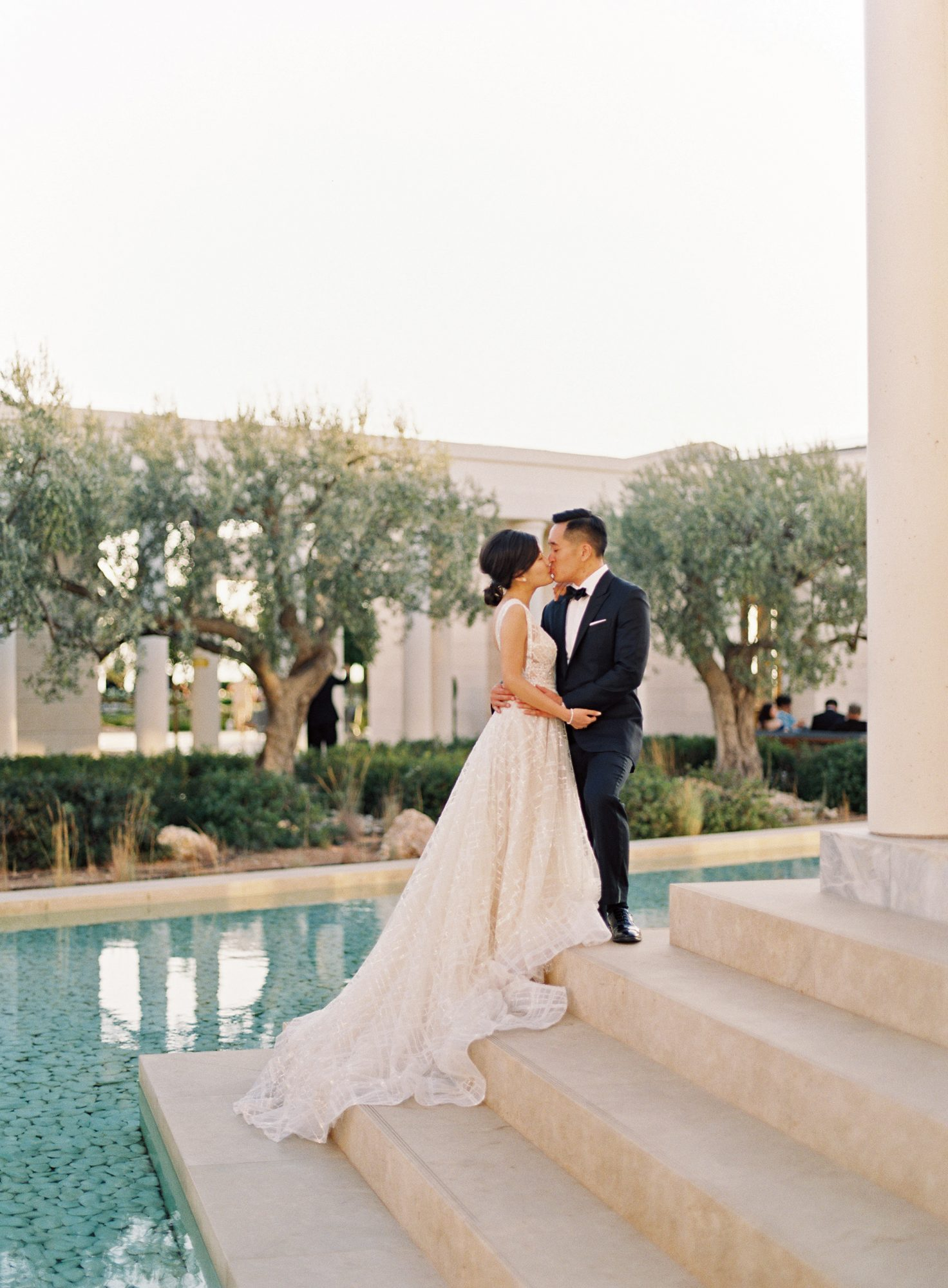 sze amanzoe wedding couple greece elegant