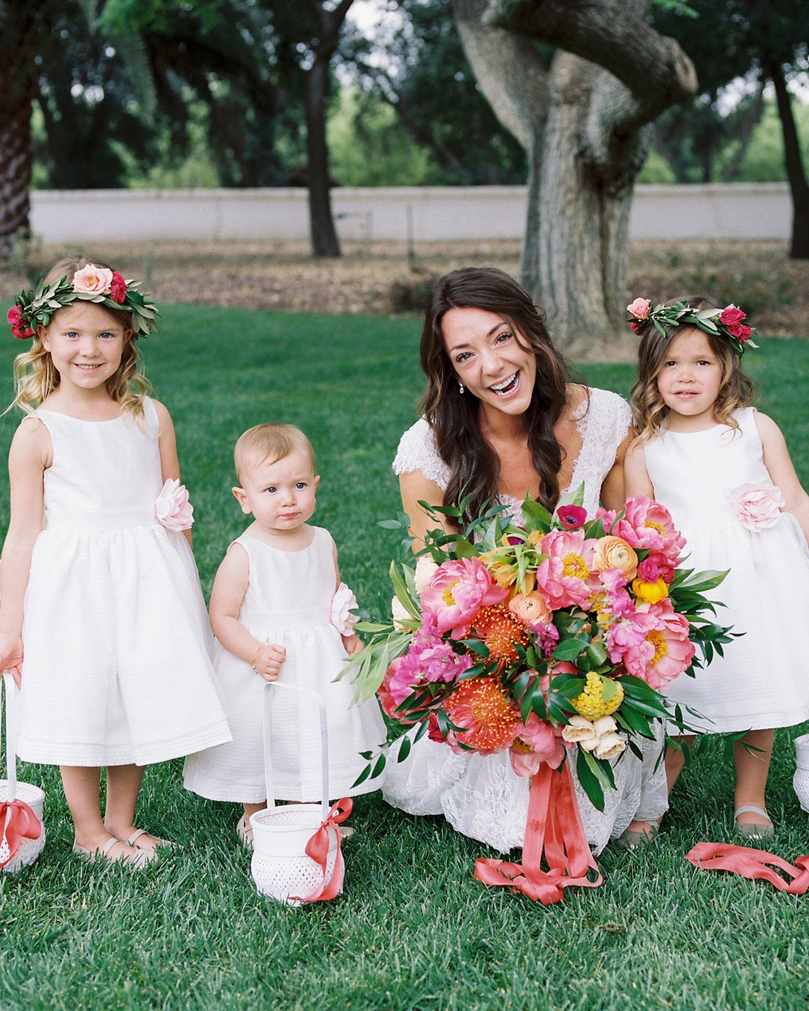 amy mark california flower girls and bride