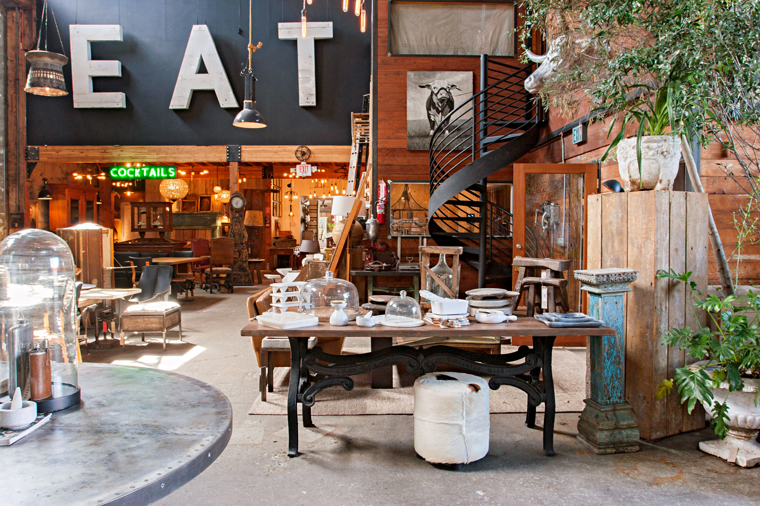 antique store with sign saying eat