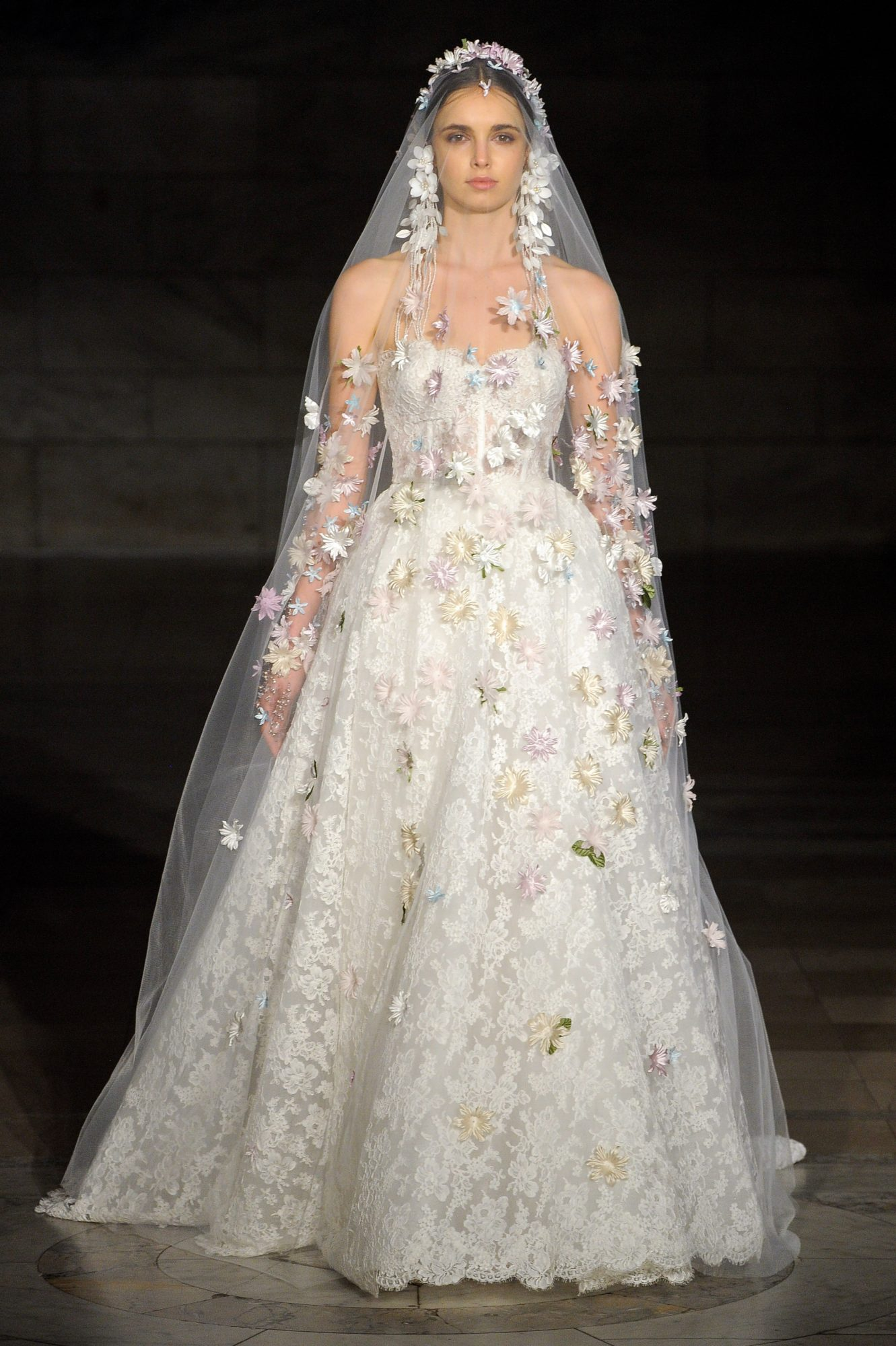reem acra fall 2019 sheath strapless ballgown wedding dress