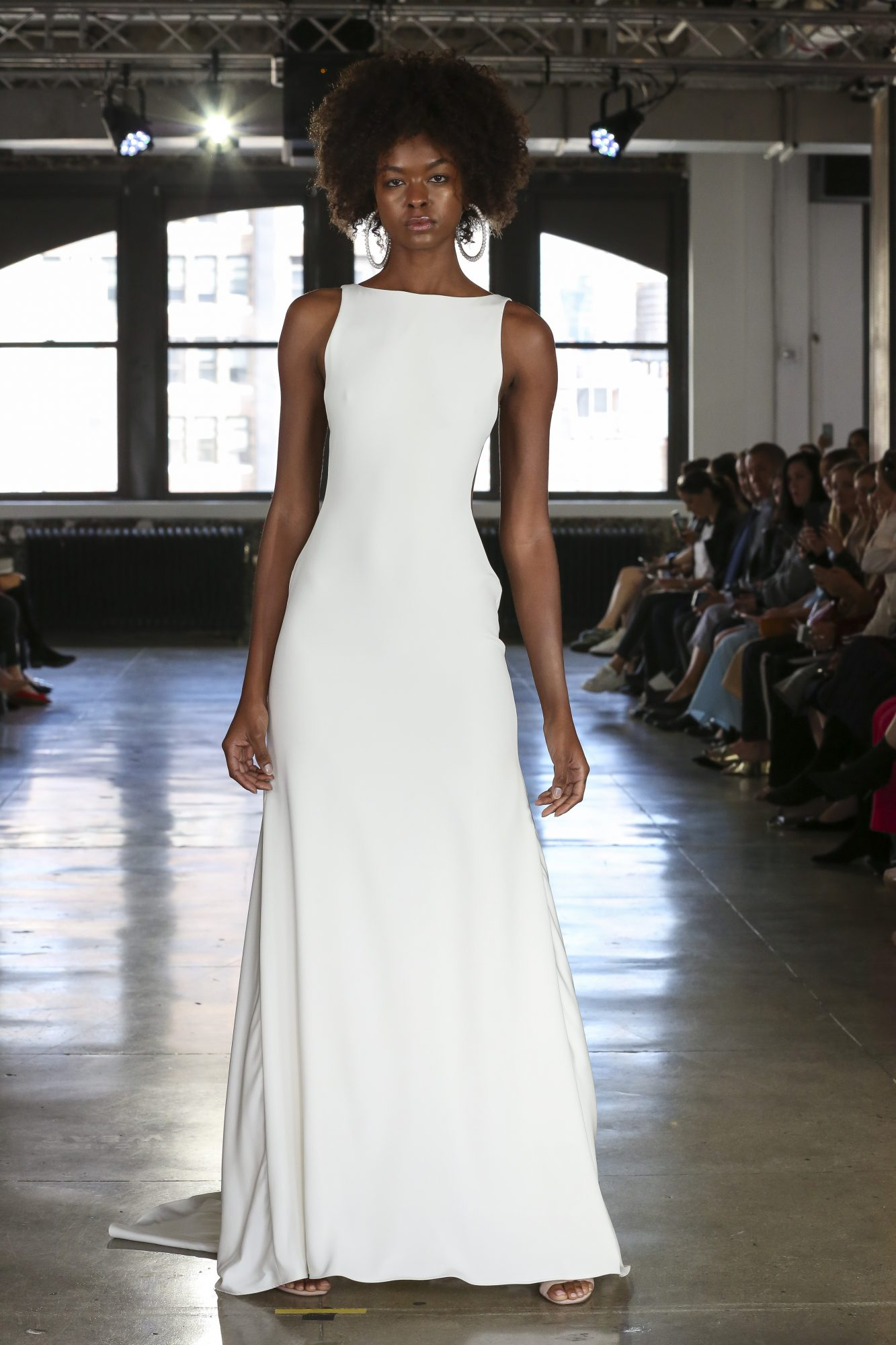 Watters wedding dress with high neck fall 2019