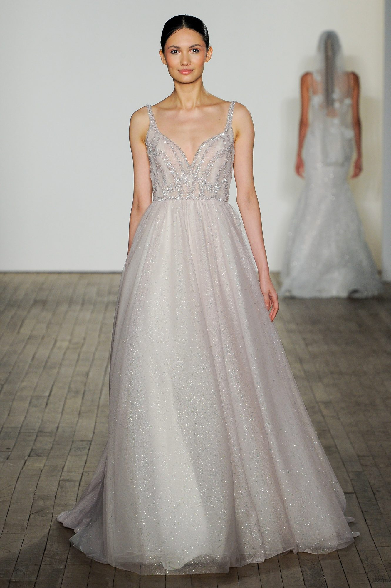 blush by hayley paige fall 2019 a-line glitter wedding dress