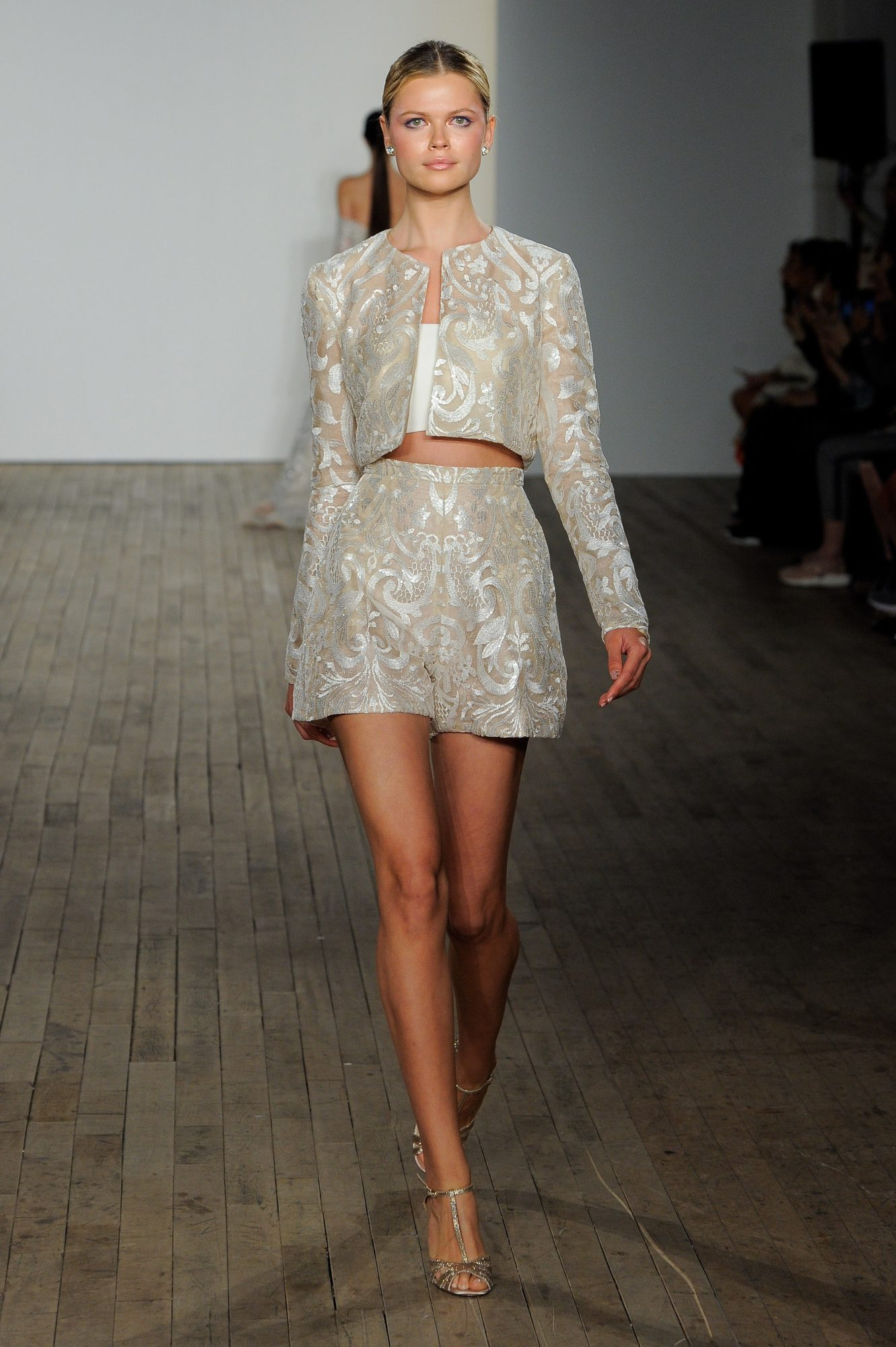 haley paige fall 2019 short 2 separates with jacket wedding dress