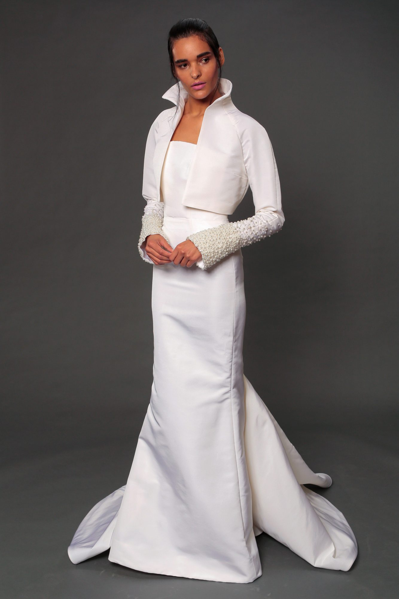 isabelle armstrong fall 2019 jacket mermaid wedding dress