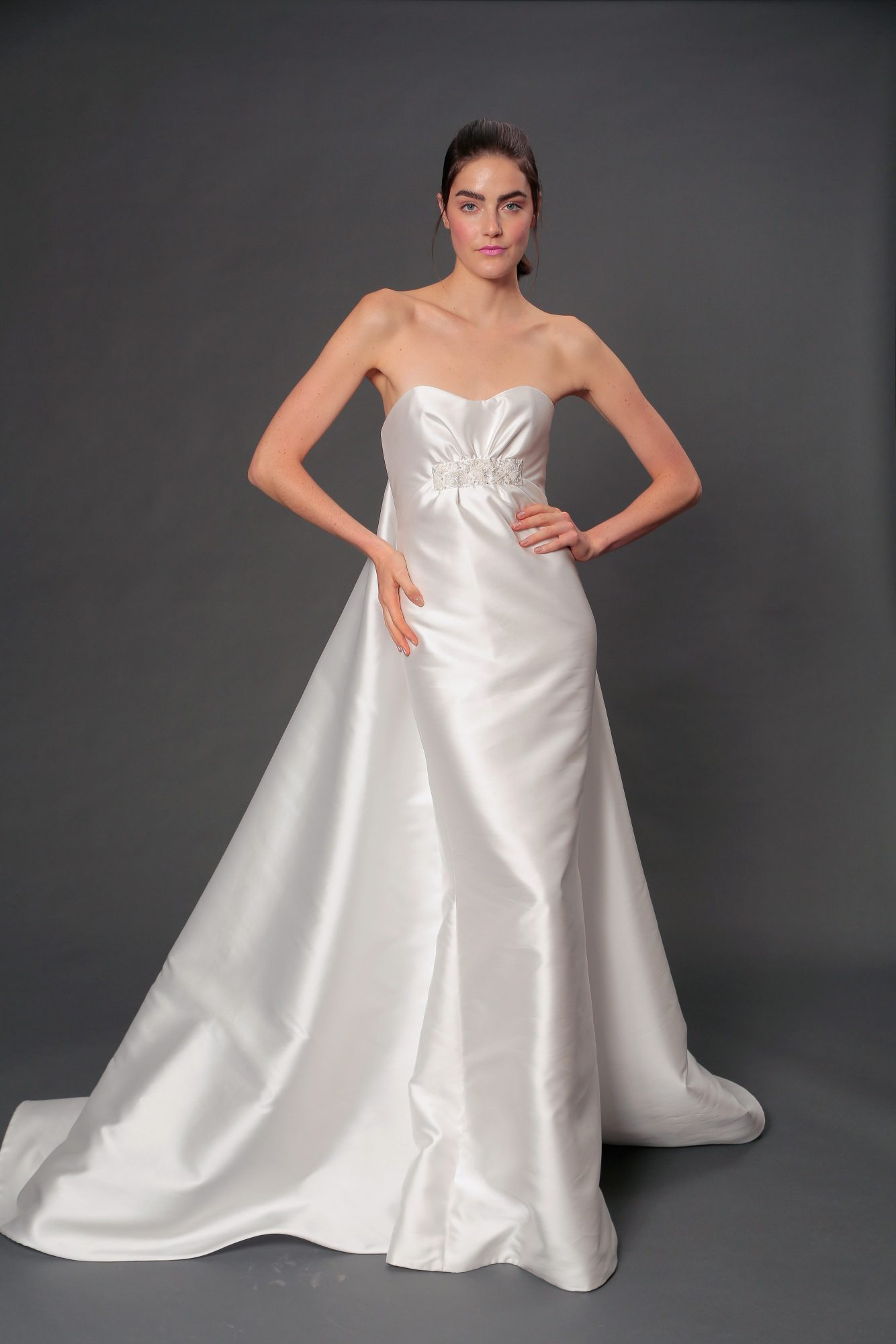 isabelle armstrong fall 2019 strapless a-line wedding dress