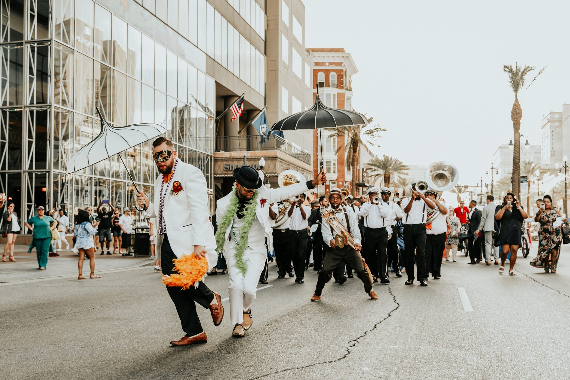 joe tim new orleans wedding second line