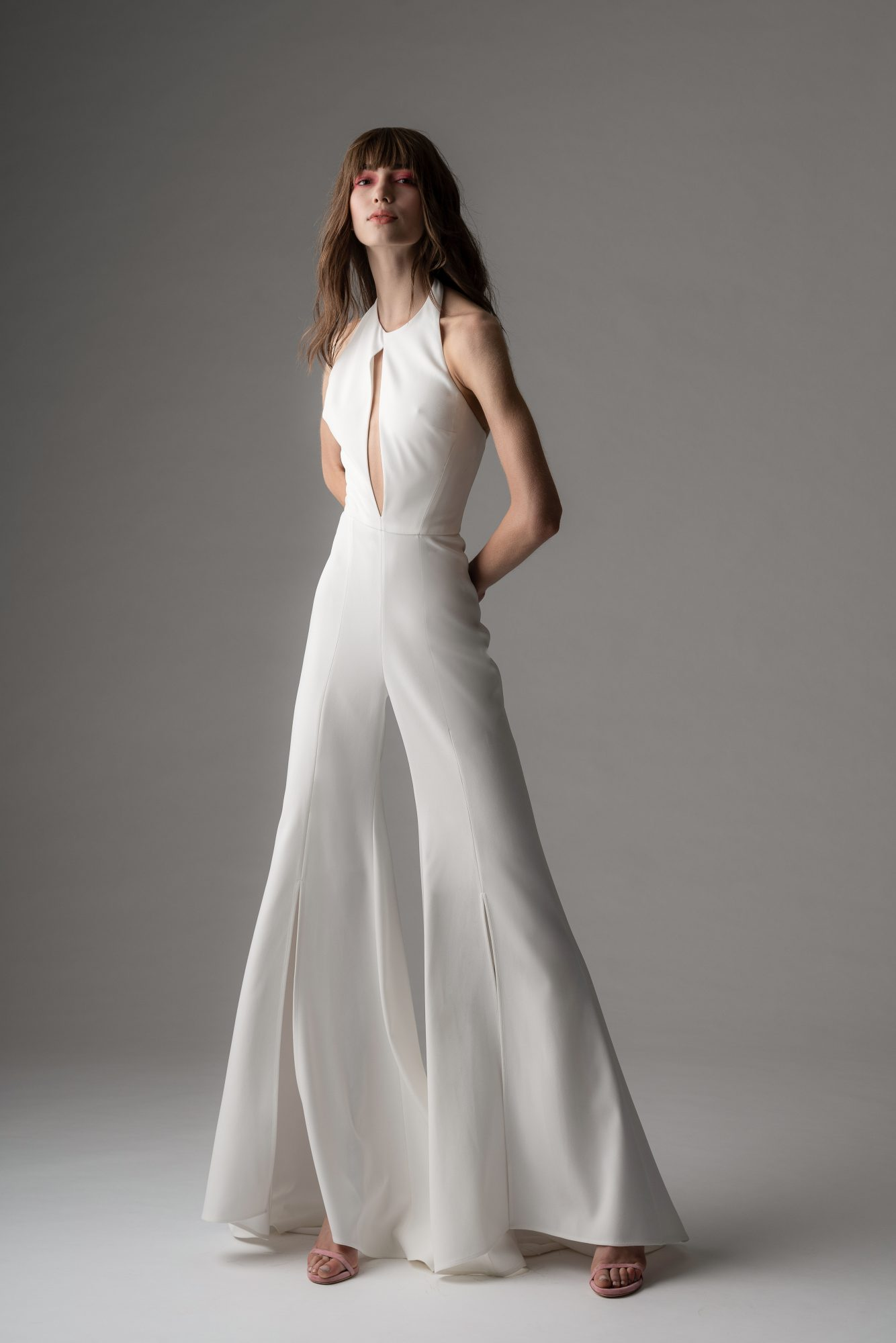 rivini by rita fall 2019 high neck jumpsuit wedding dress