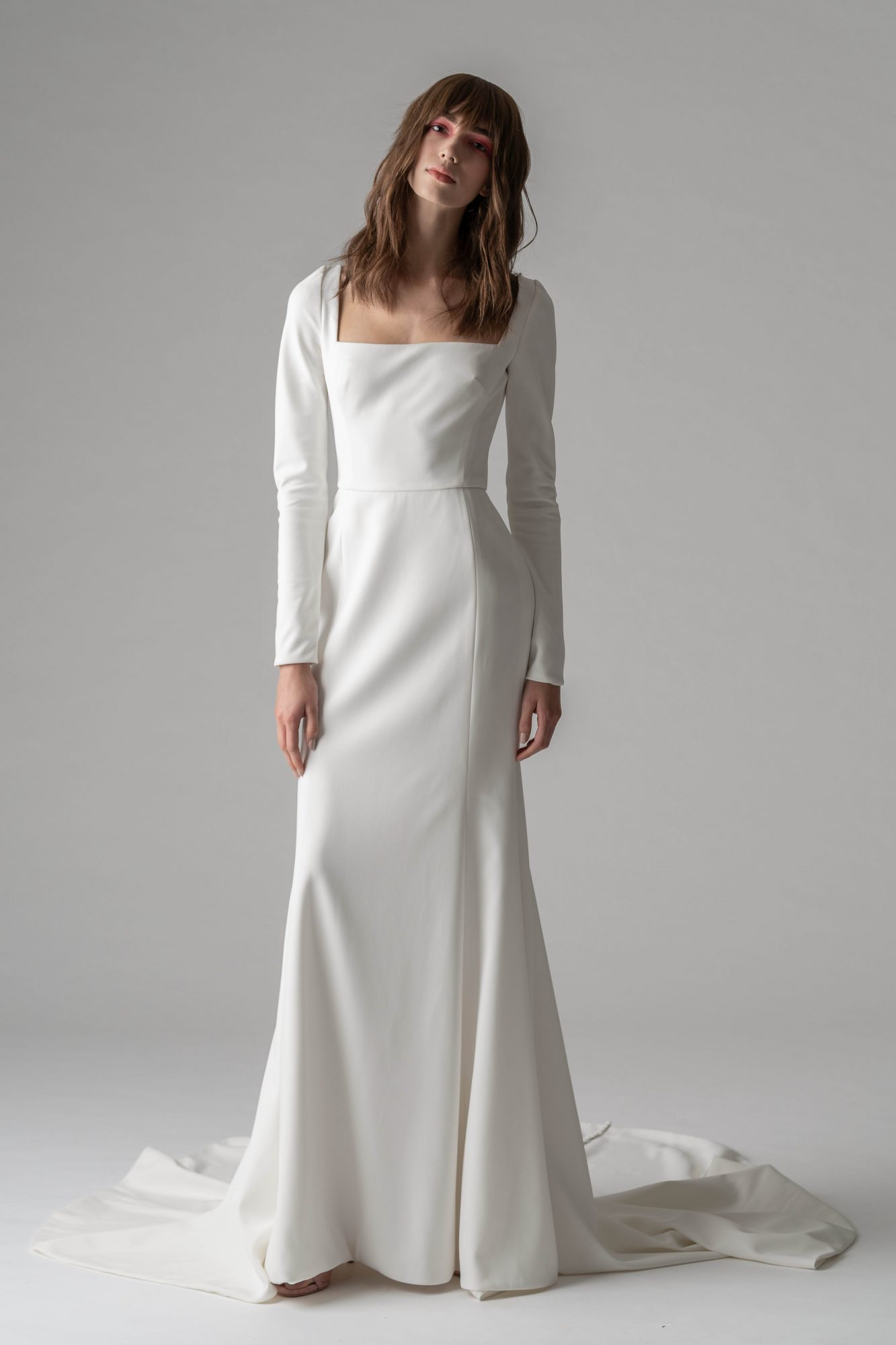 rivini by rita fall 2019 long sleeve sheath wedding dress