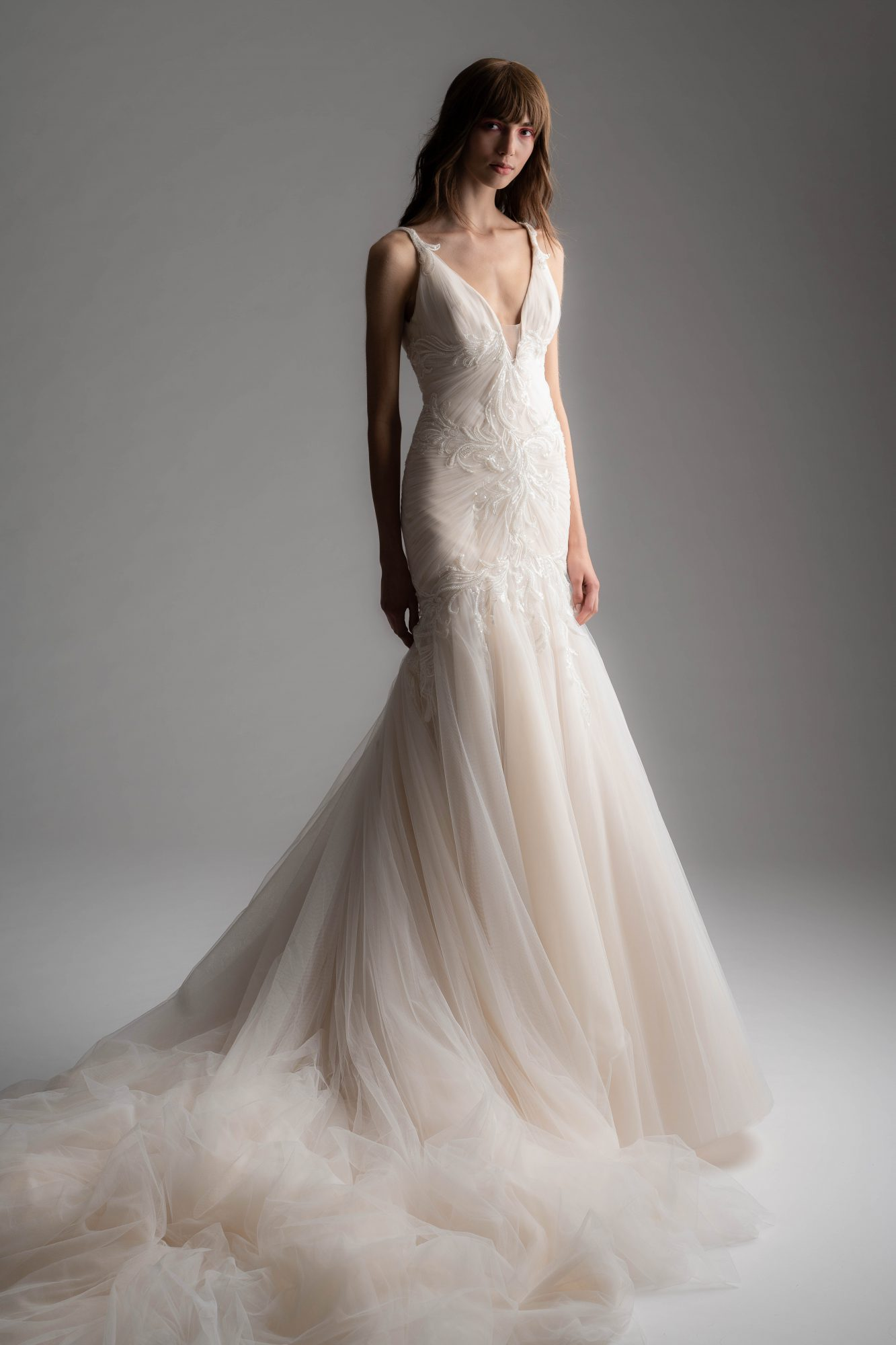 rivini by rita fall 2019 v-neck trumpet tulle wedding dress