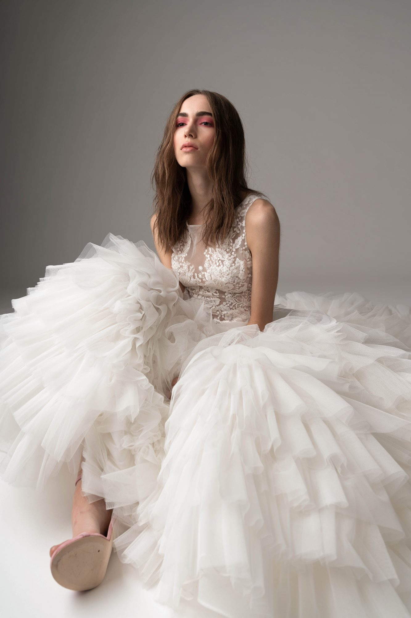 rivini by rita fall 2019 high neck tulle wedding dress