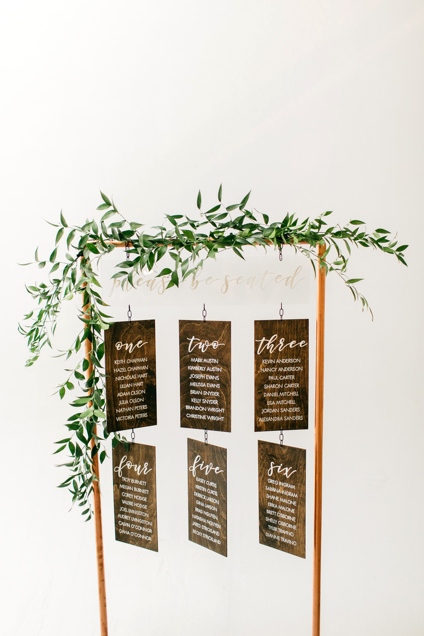 Wooden Seating Chart