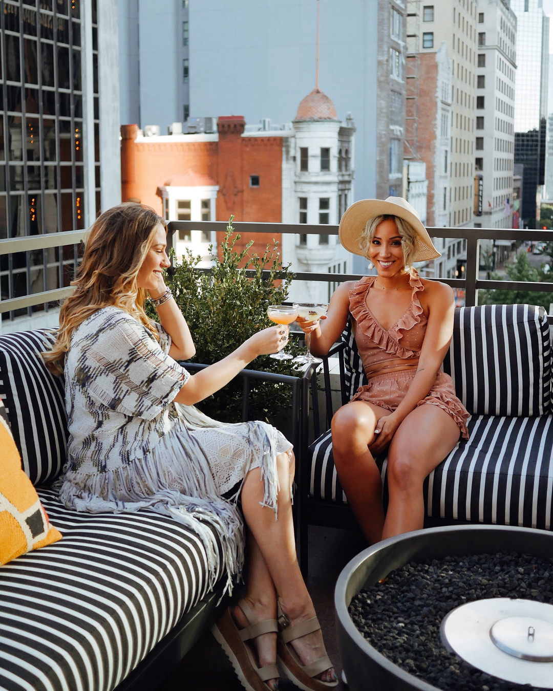 bachelorette cities nashville women one rooftop with drinks