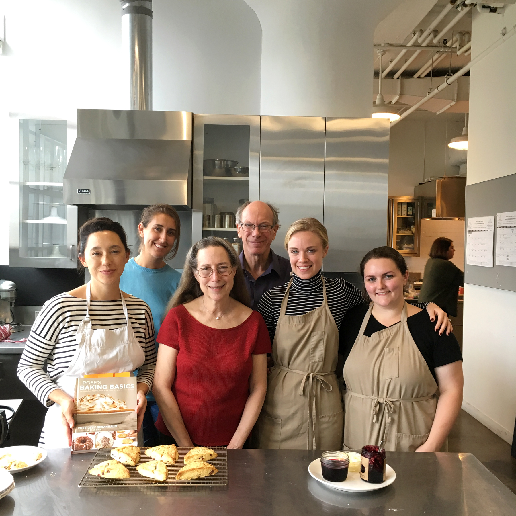 group making scones with rose levy beranbaum