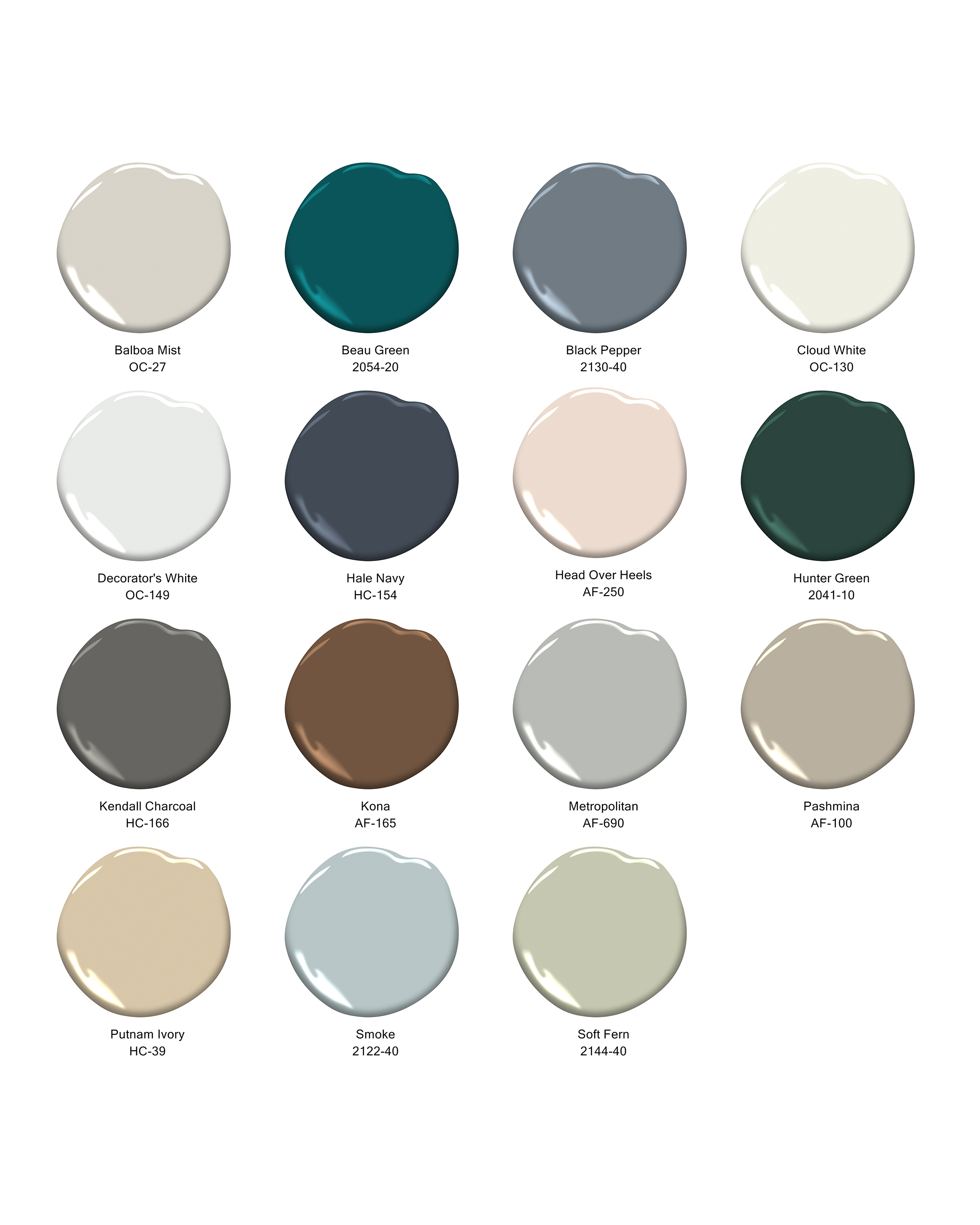 benjamin moore color trends grid 2019