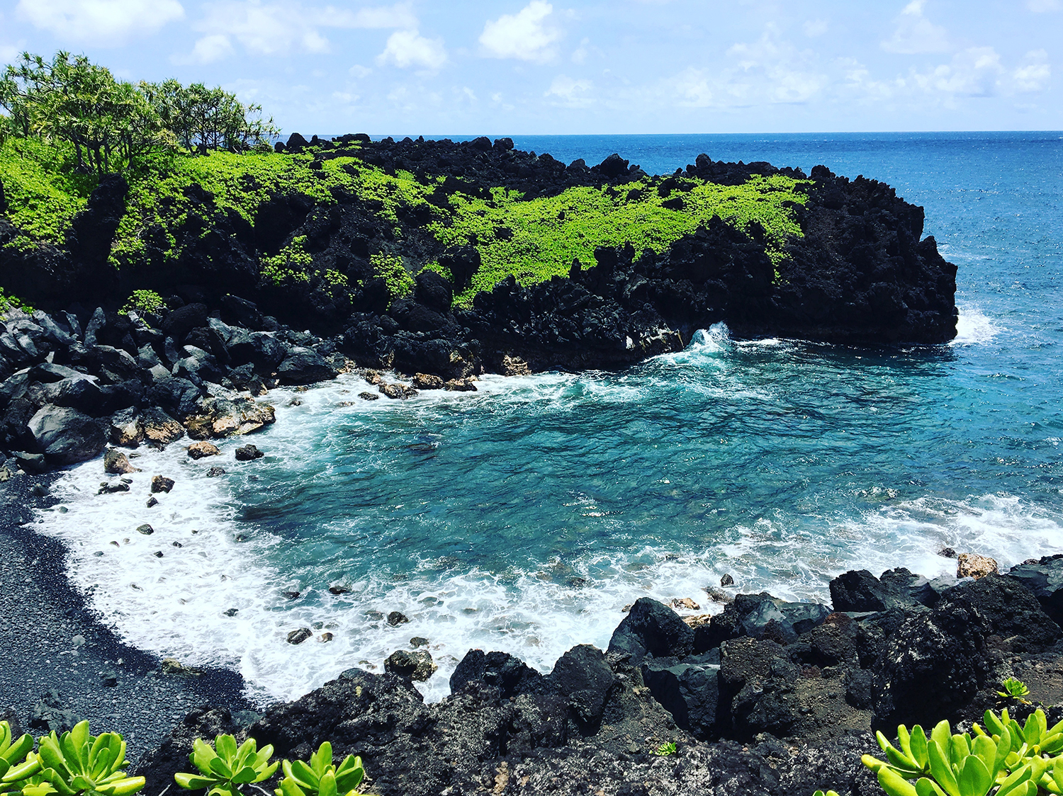 hawaii experiences lush coastline road to hana waianapanapa state park