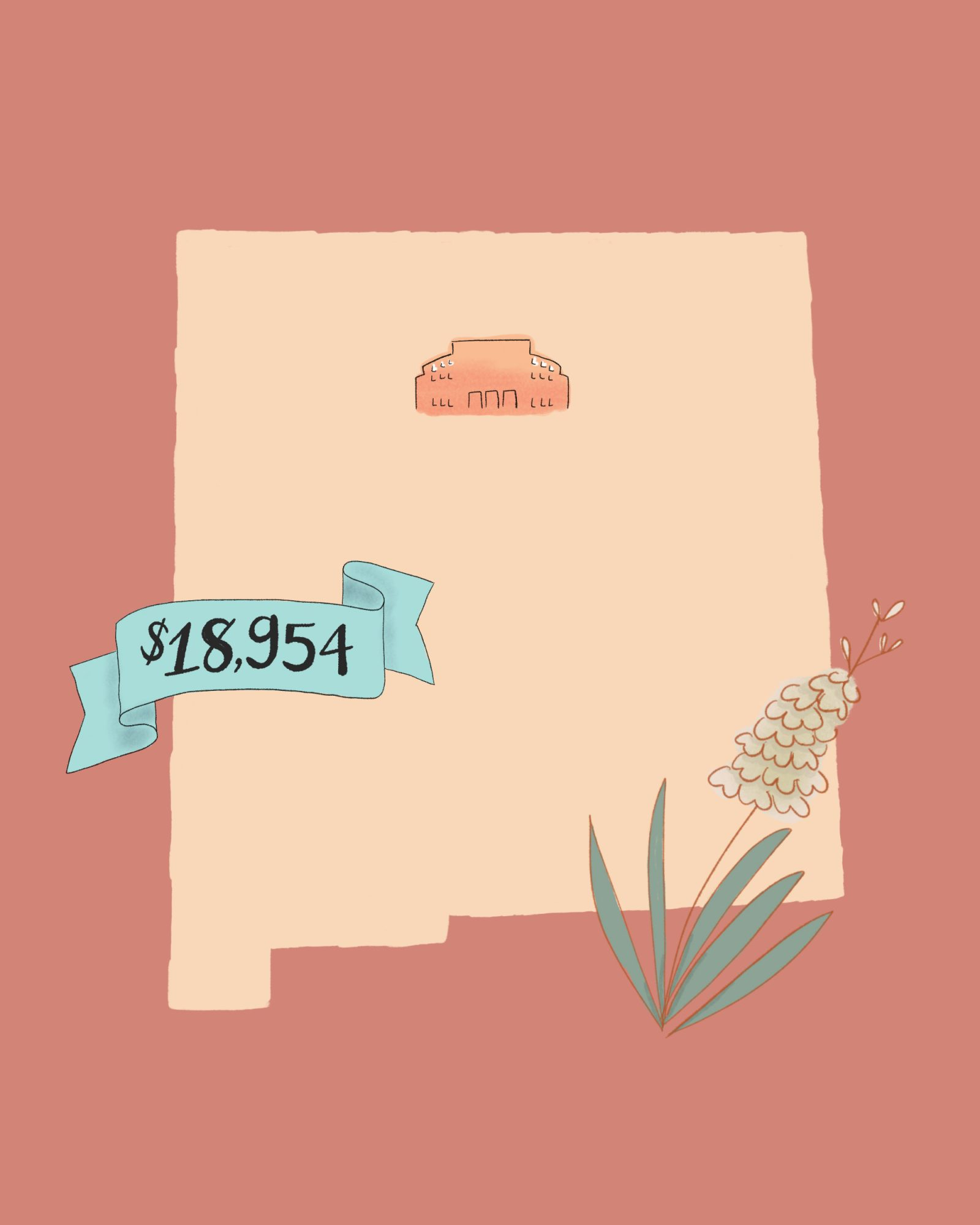 state wedding costs illustration new mexico