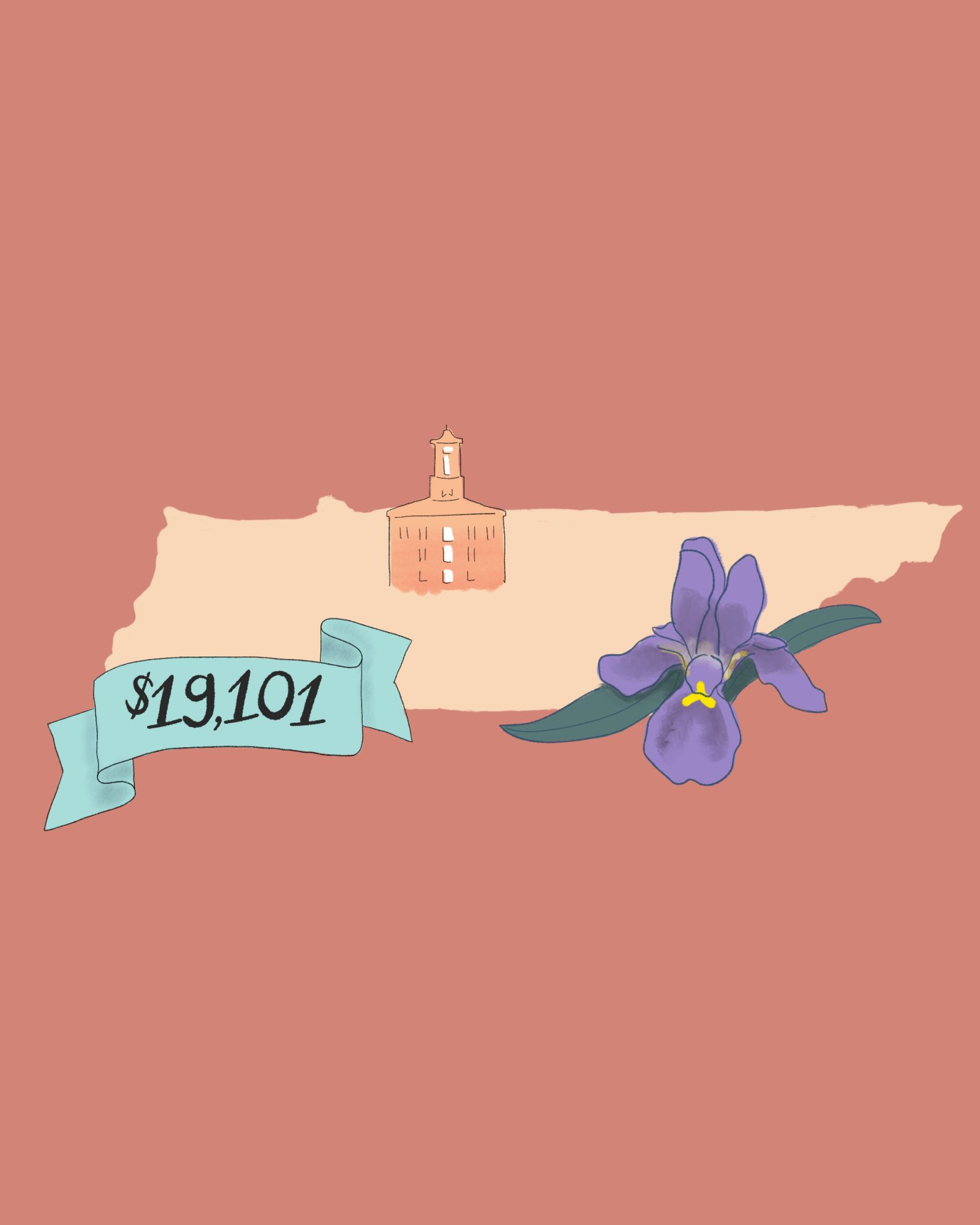 state wedding costs illustration tennessee