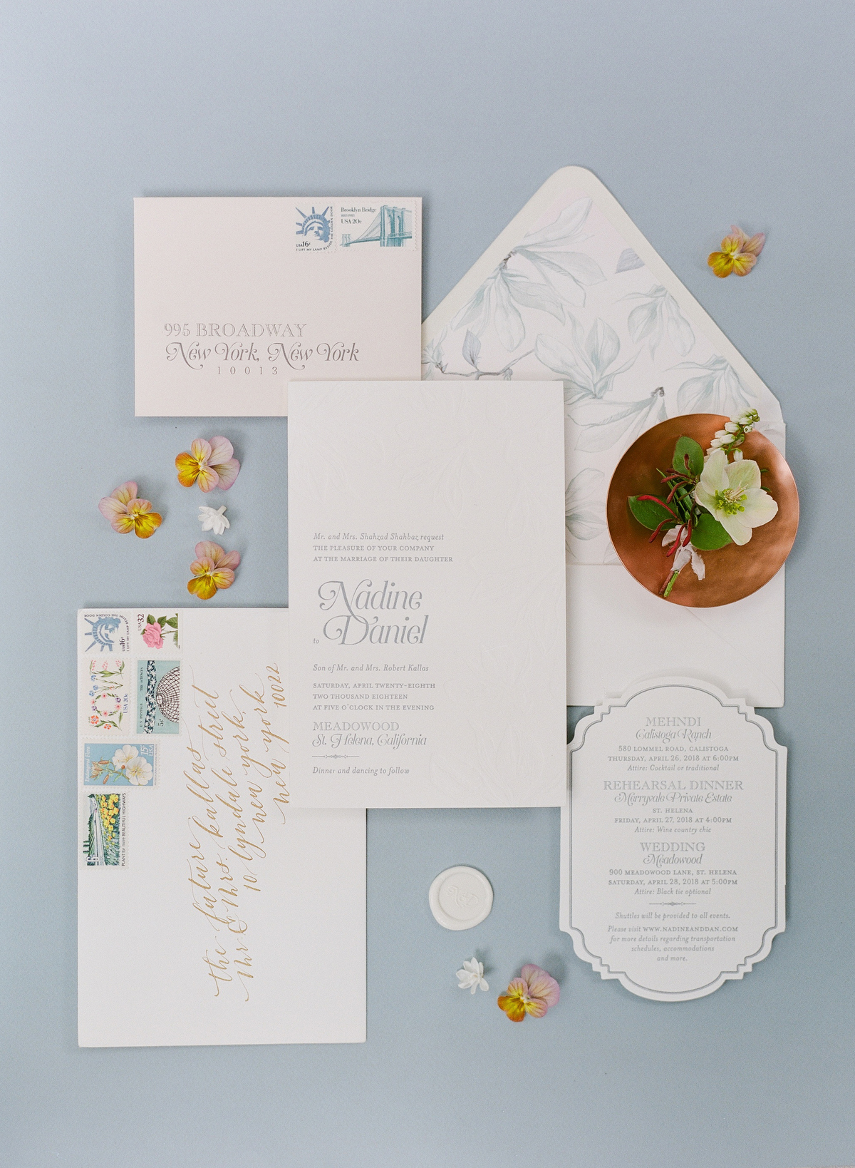 nadine dan wedding invitation suite