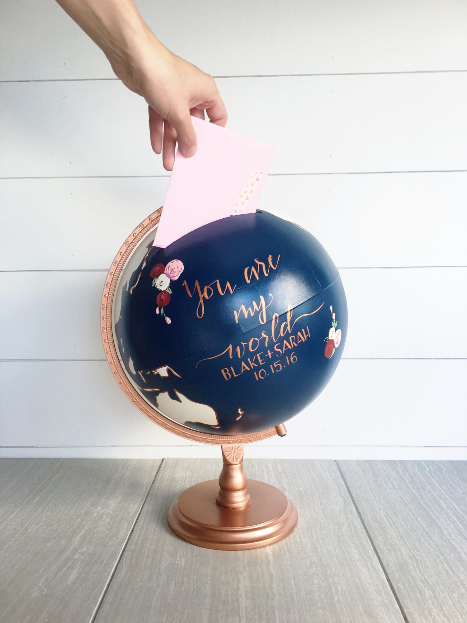wedding card gift box globe