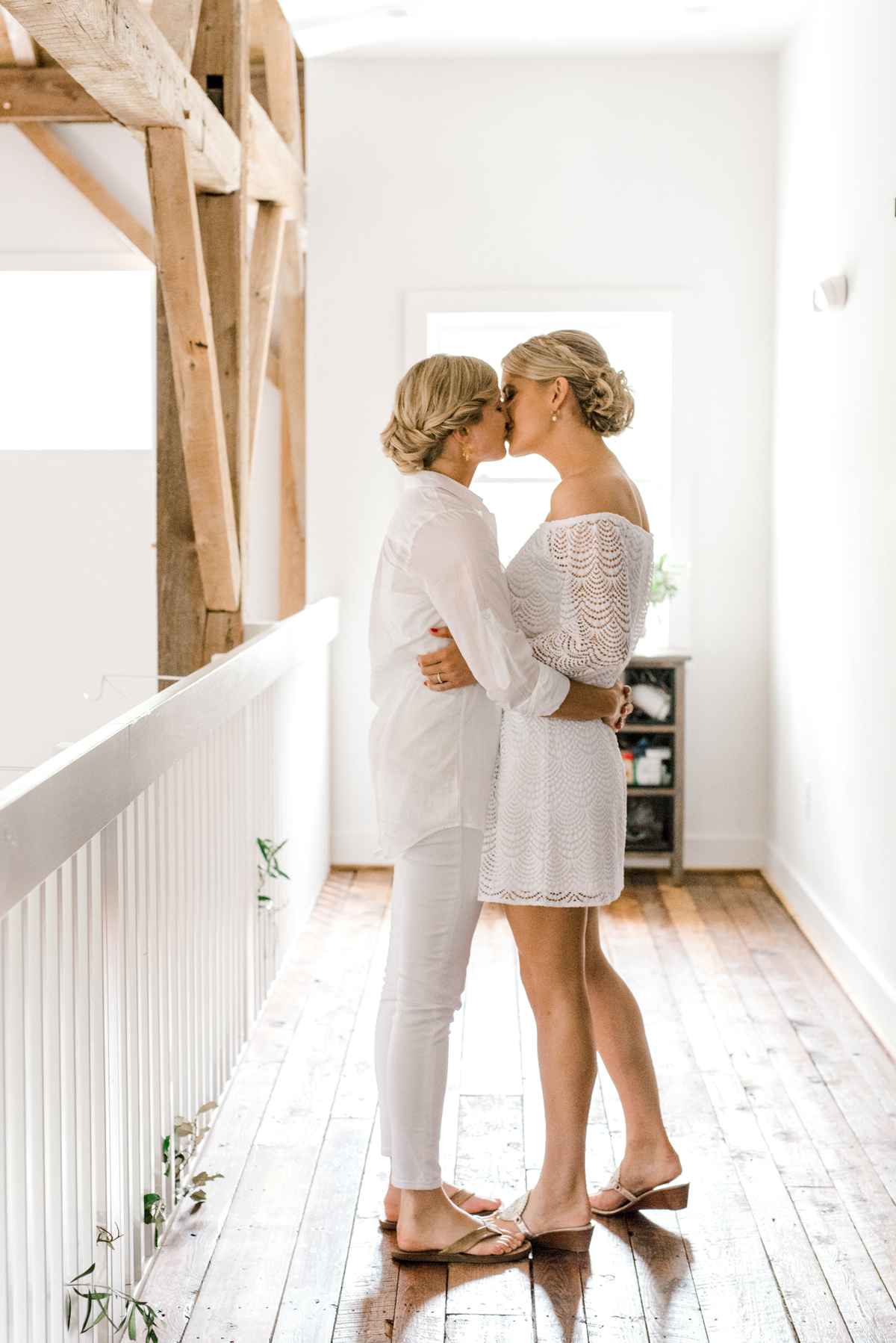 paige and kristine wedding first look