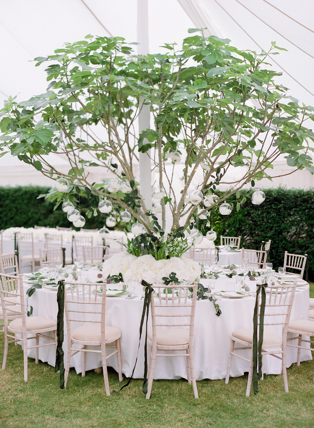 peony matthew england wedding round table with tree in center