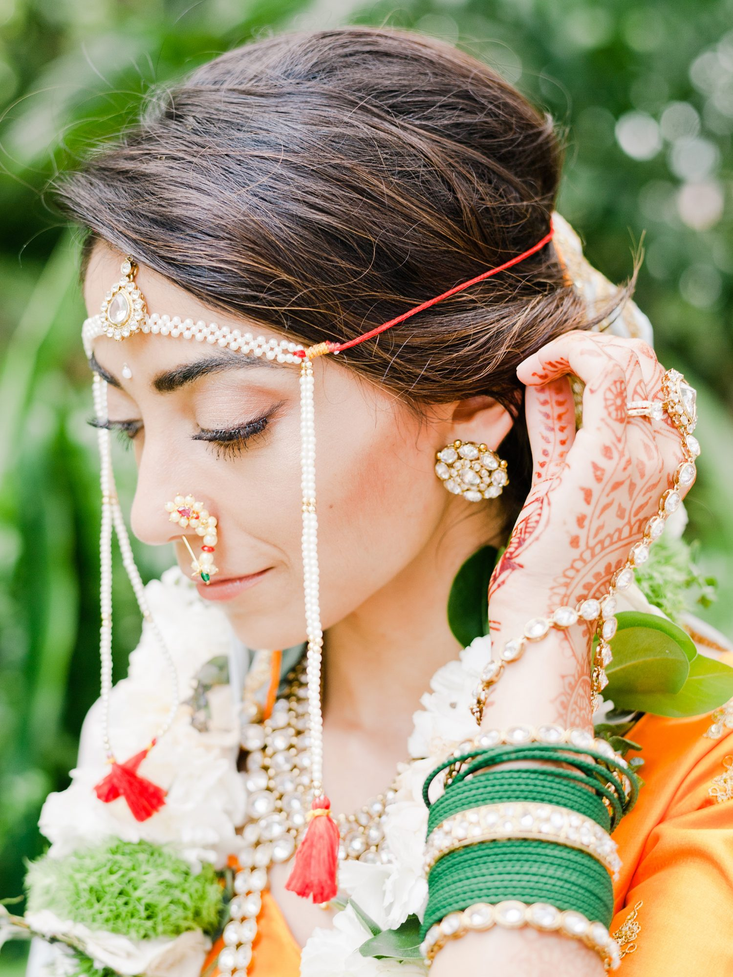anuja nikhil wedding bride jewelry