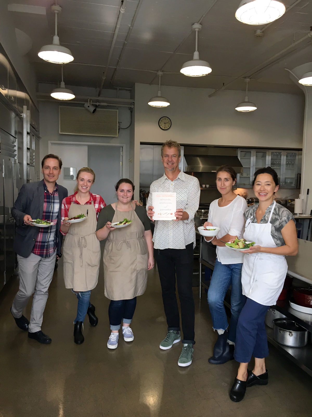 cal peternell with cooking class students