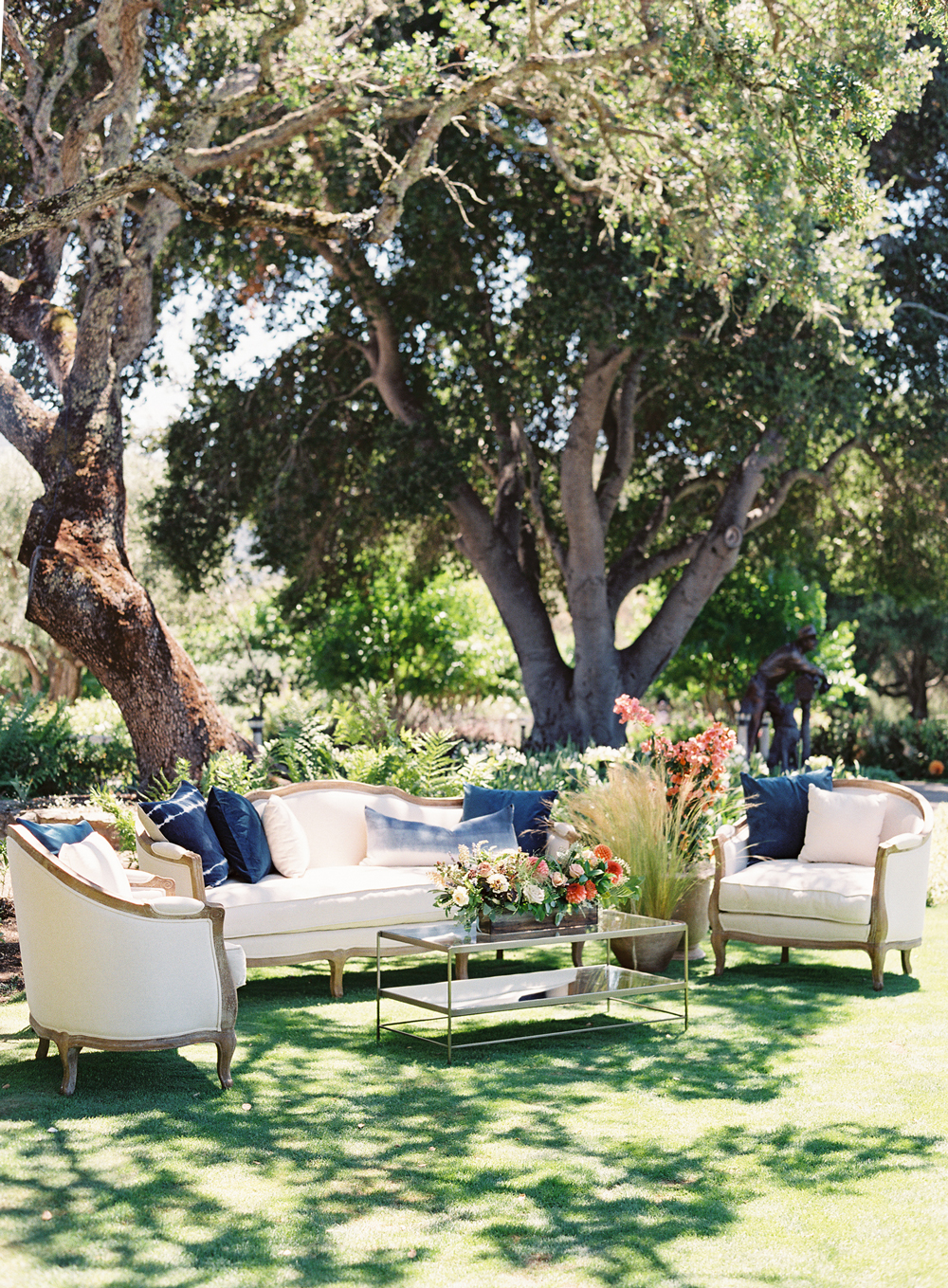 laurie michael wedding lounge beneath trees